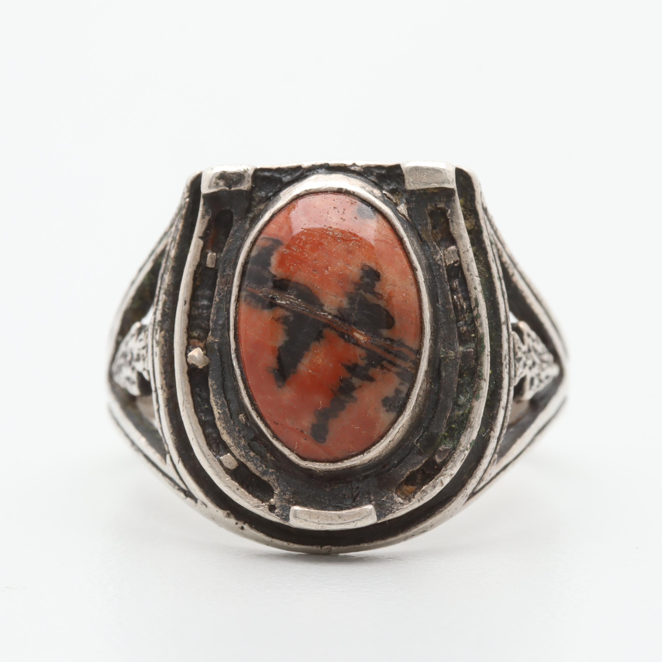 Sterling Silver Jasper Ring
