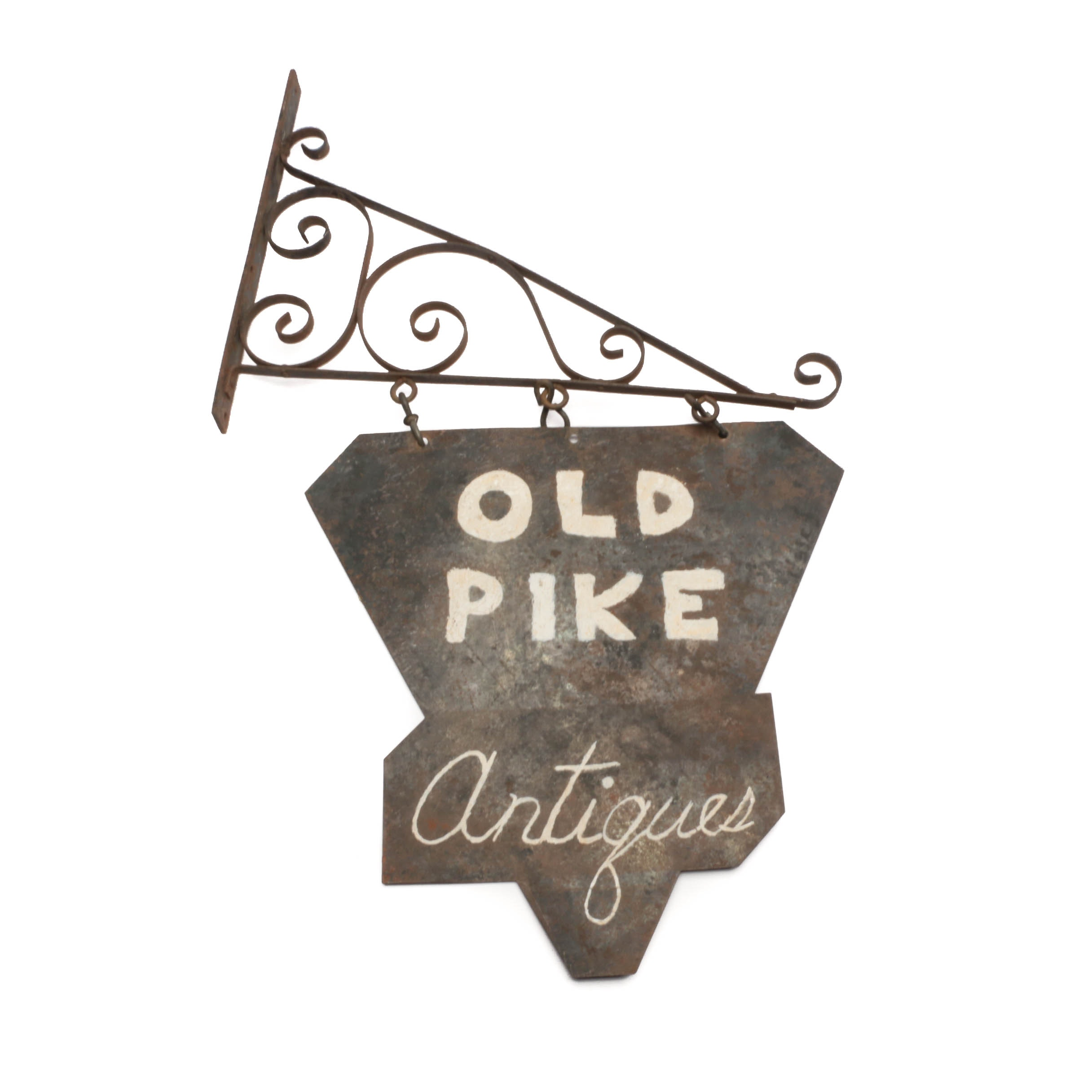 "Vintage ""Old Pike Antiques"" Metal Sign"