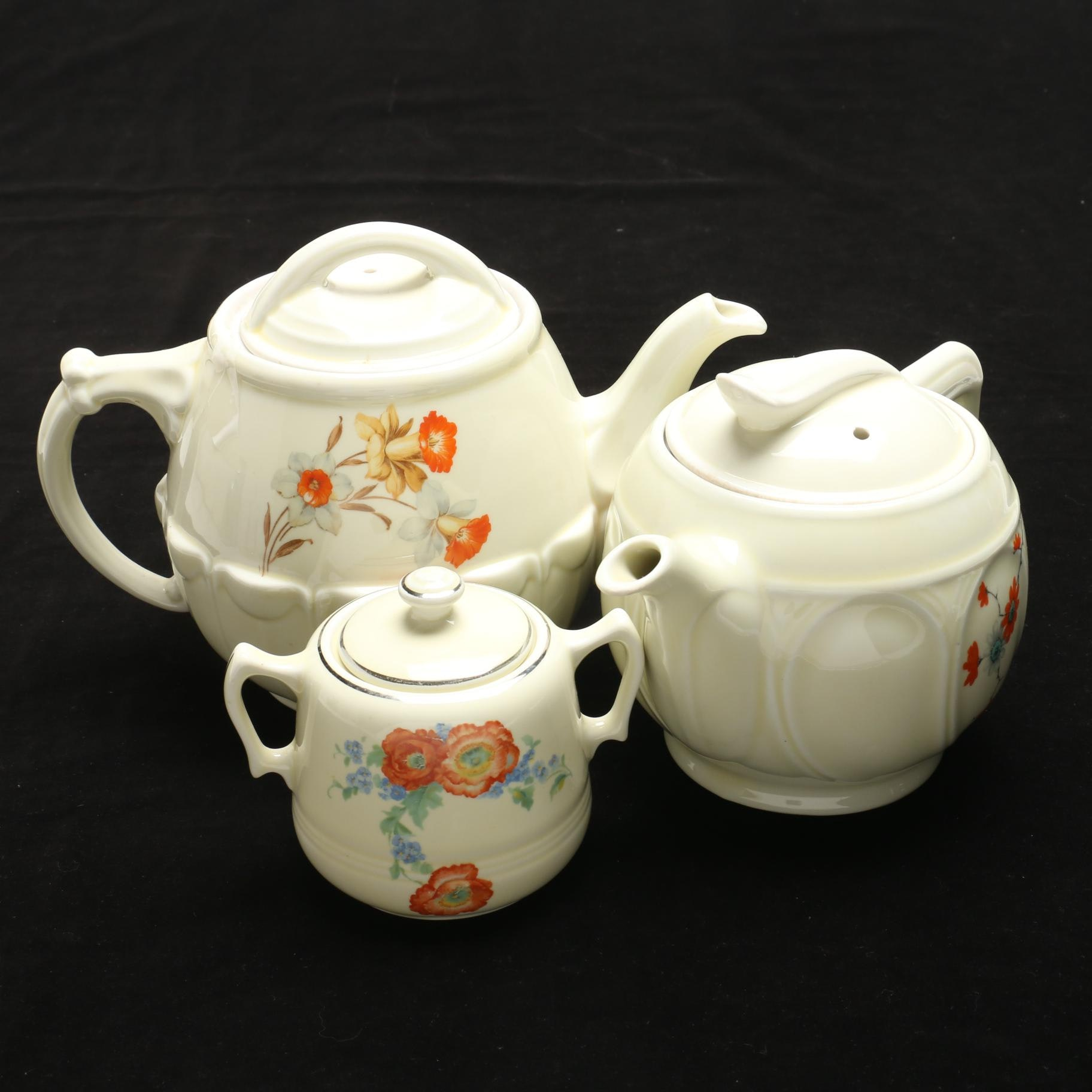 Hall Floral Patterned Ceramic Coffee and Teapots