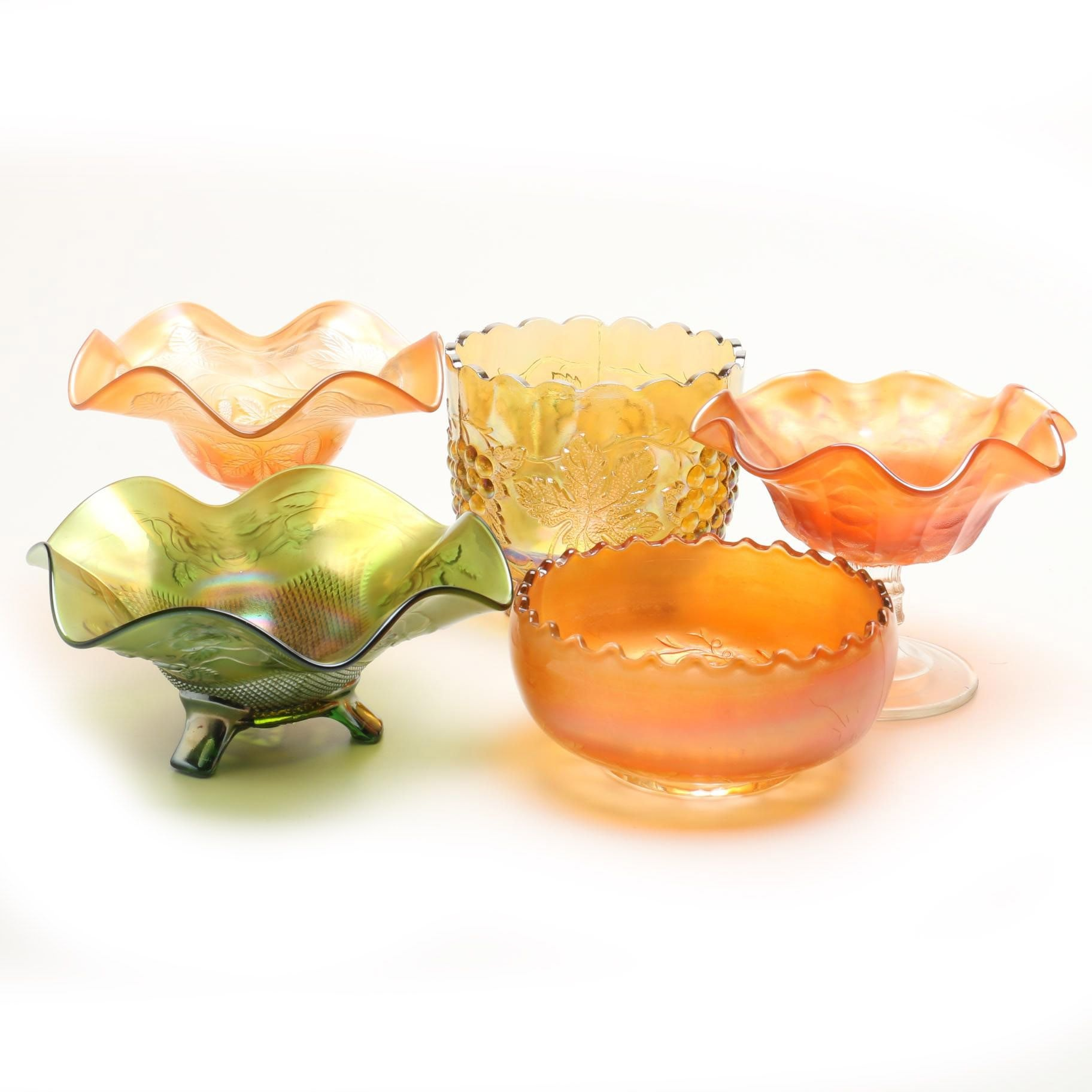 Carnival Glass Candy Dishes and Compotes