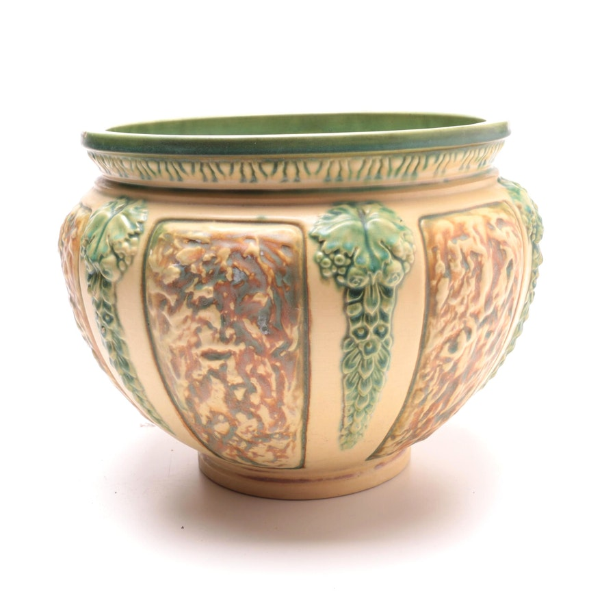 Roseville Pottery Florentine Jardiniere Ebth