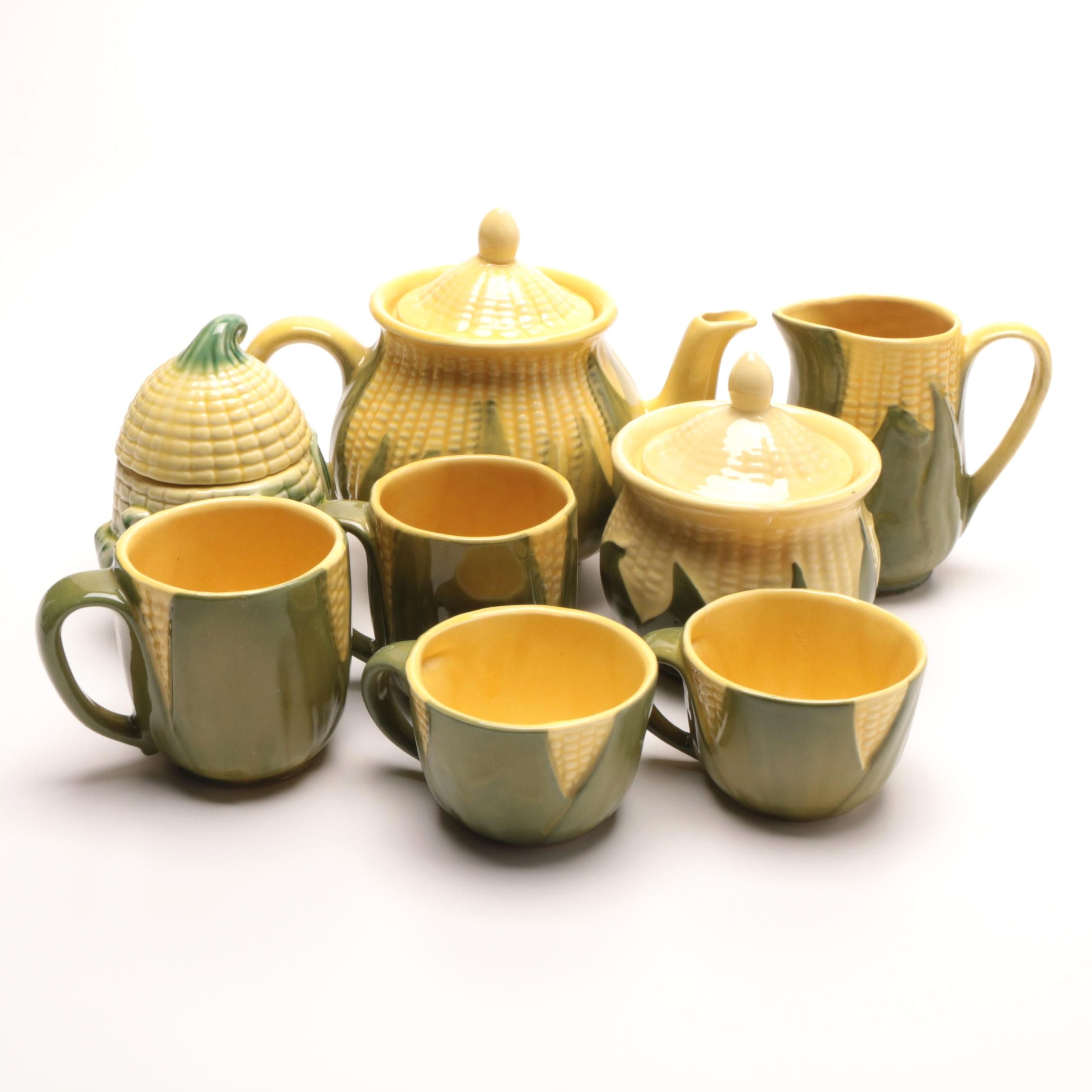"Shawnee Pottery ""Corn Ware"" Tea Service"