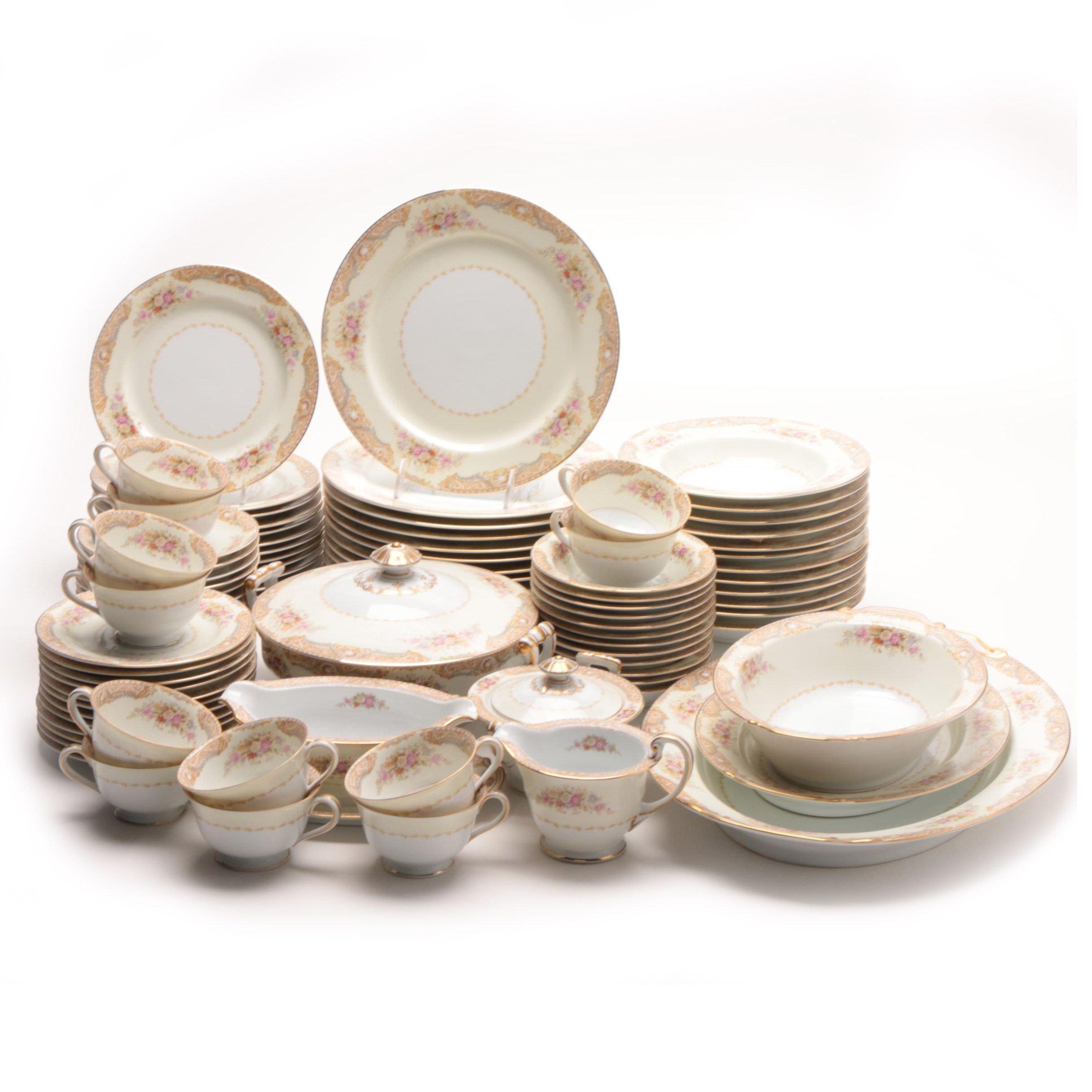Set of Noritake Porcelain Dinnerware