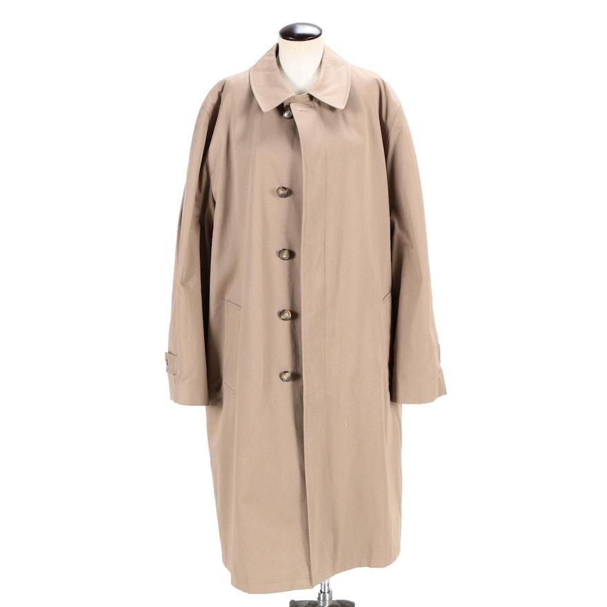 8f3d25b13edb Men s Vintage Bill Blass Trench Coat with Faux Fur Lining   EBTH
