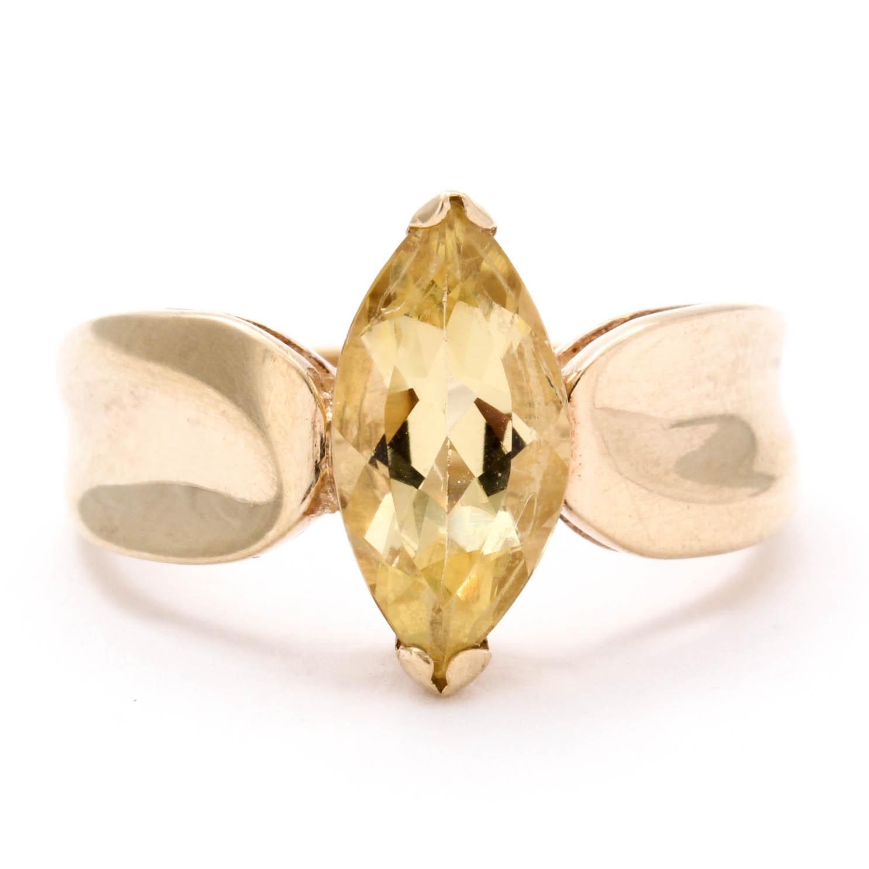 10K Yellow Gold Citrine Ring