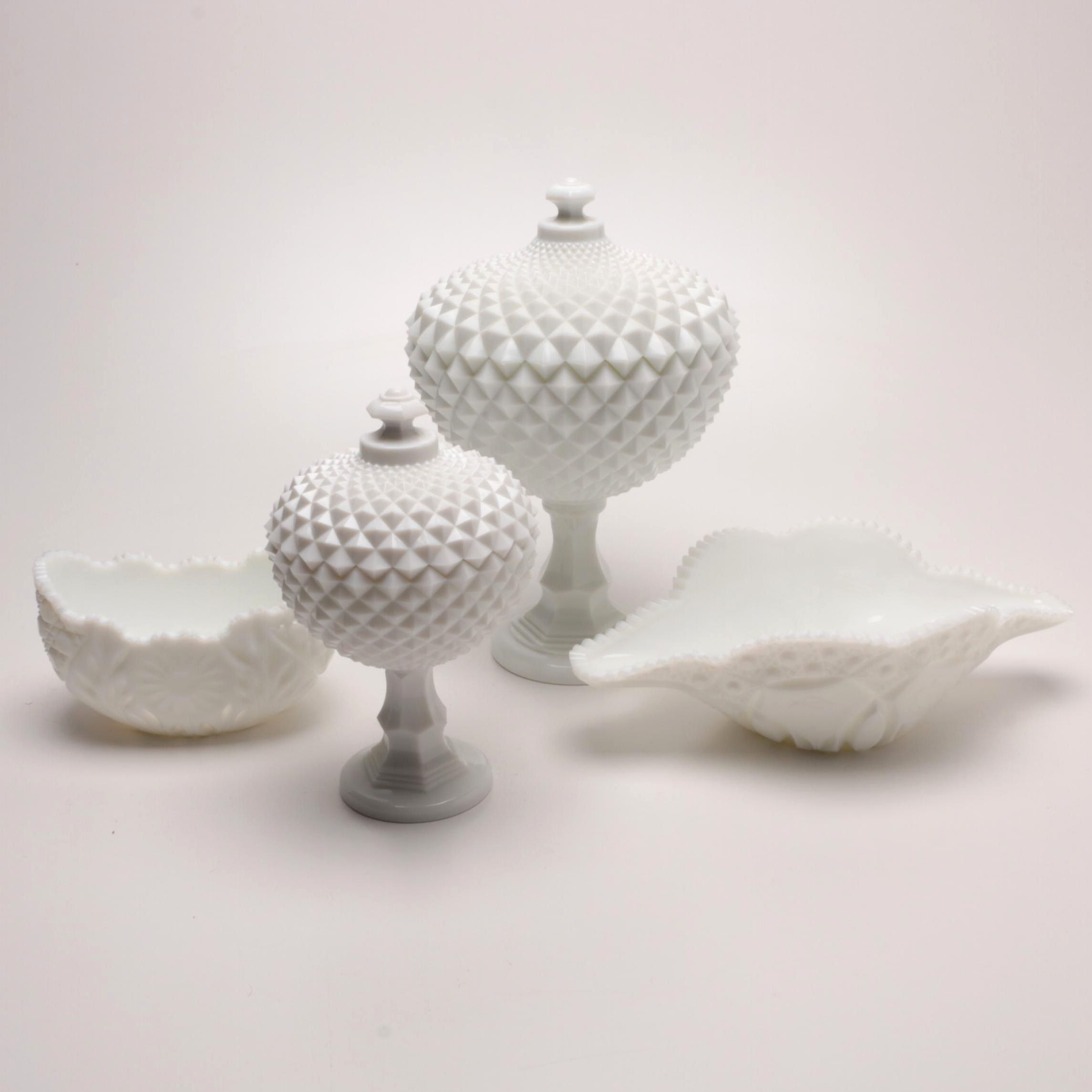 Milk Glass Tableware