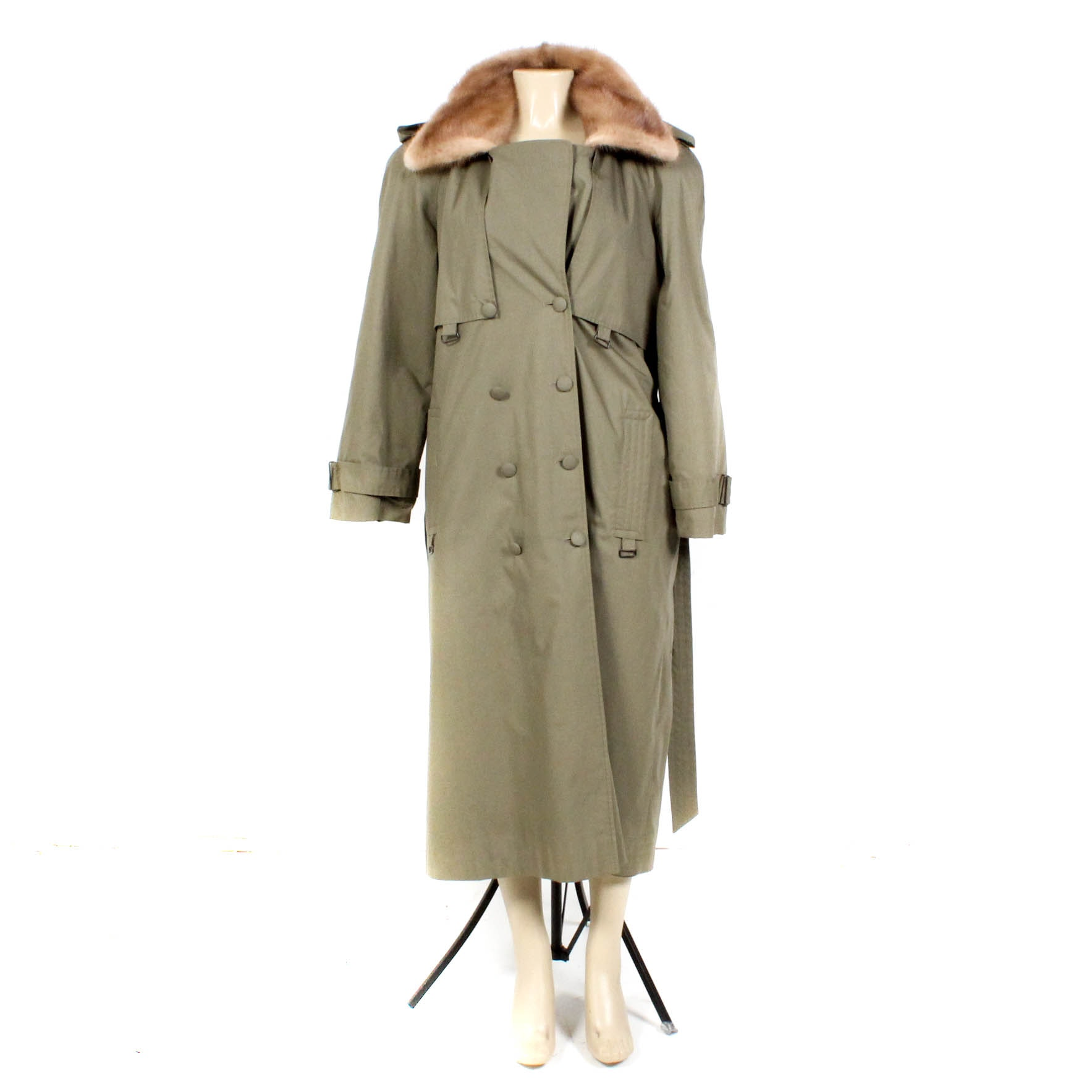 Mink Fur Lined Raincoat