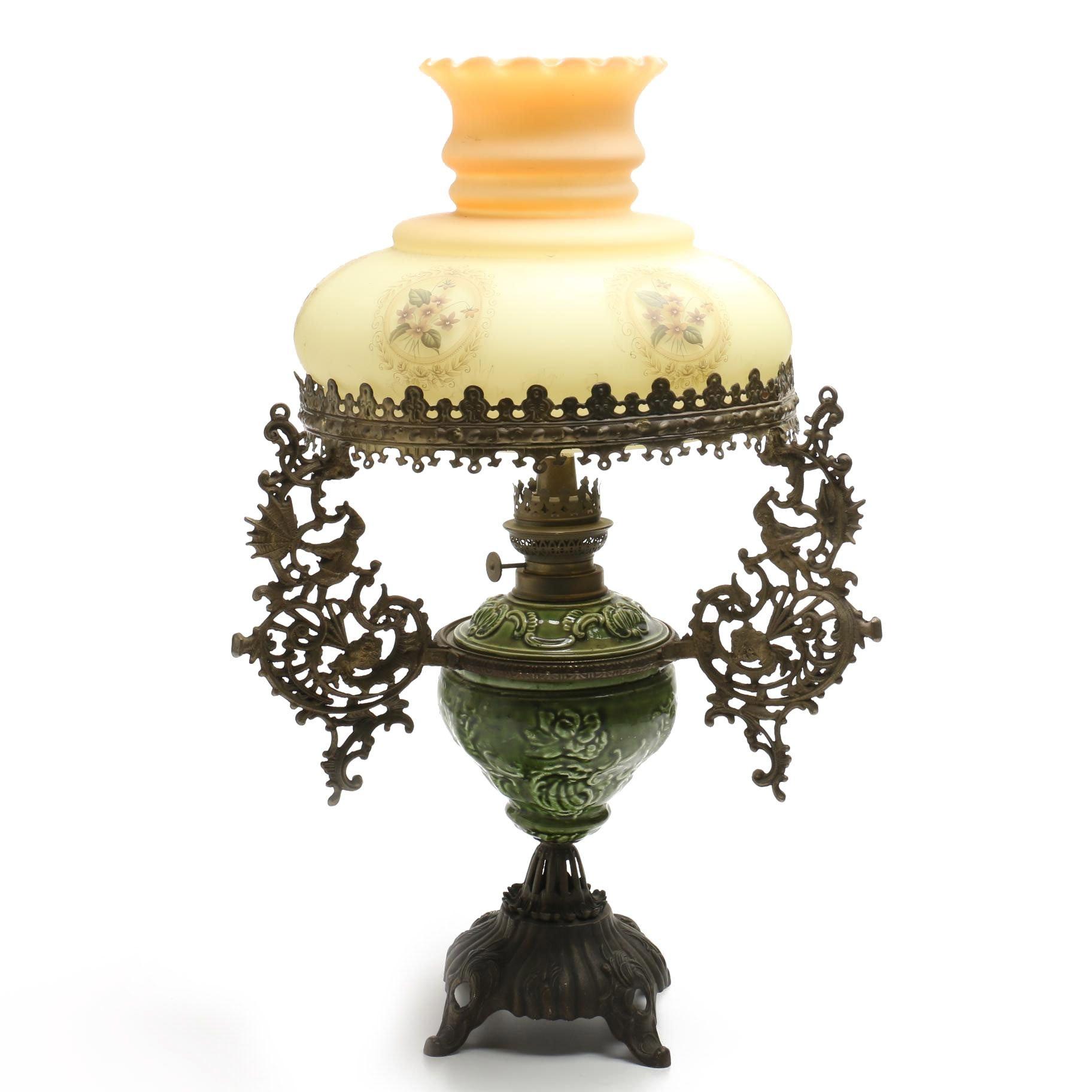 Antique Oil Parlor Lamp