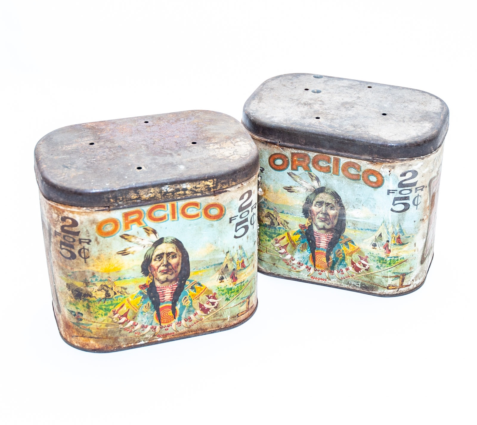 Antique Orcico Tobacco Tins