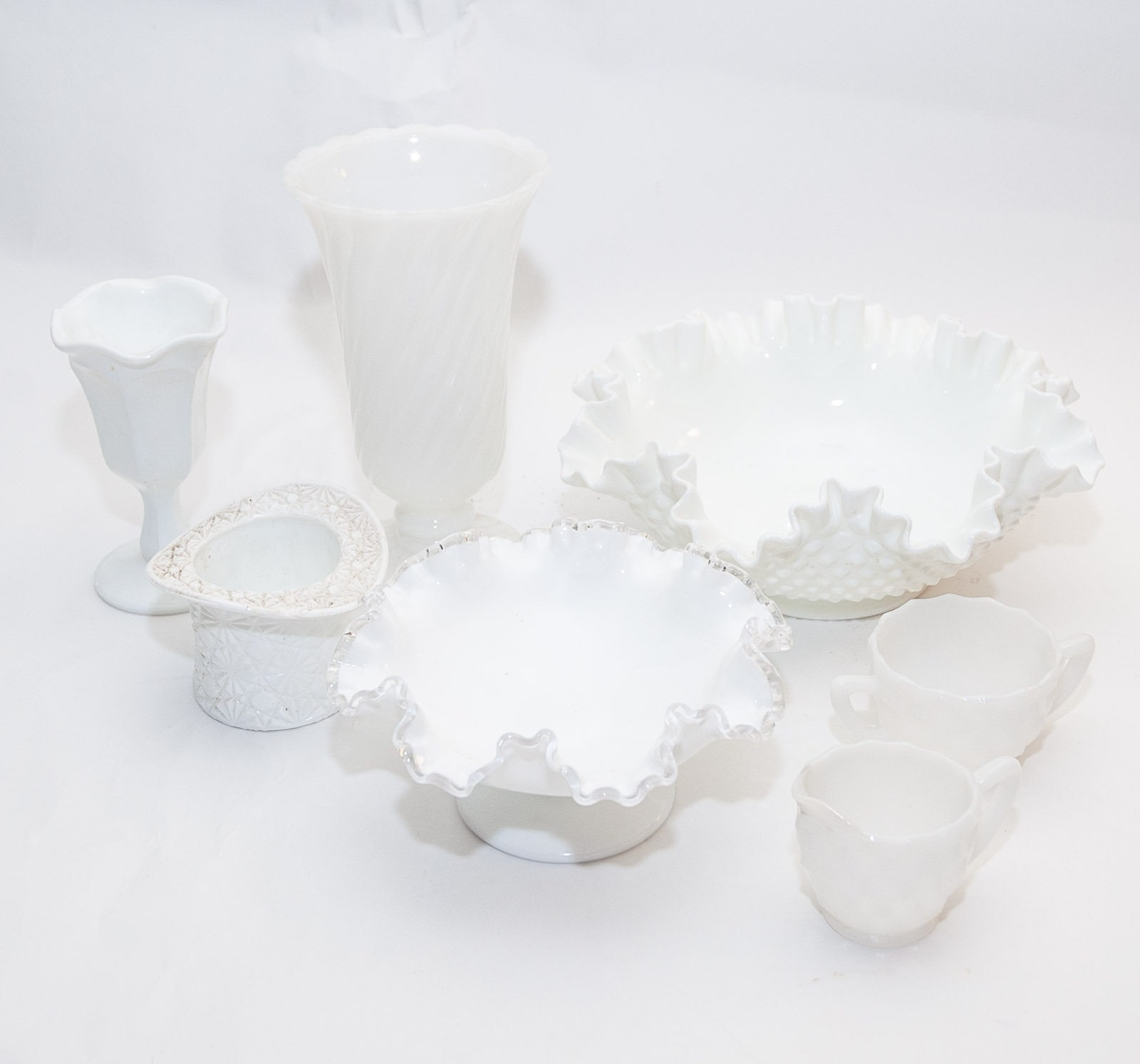 Vintage Milk Glass and Hobnail Pieces