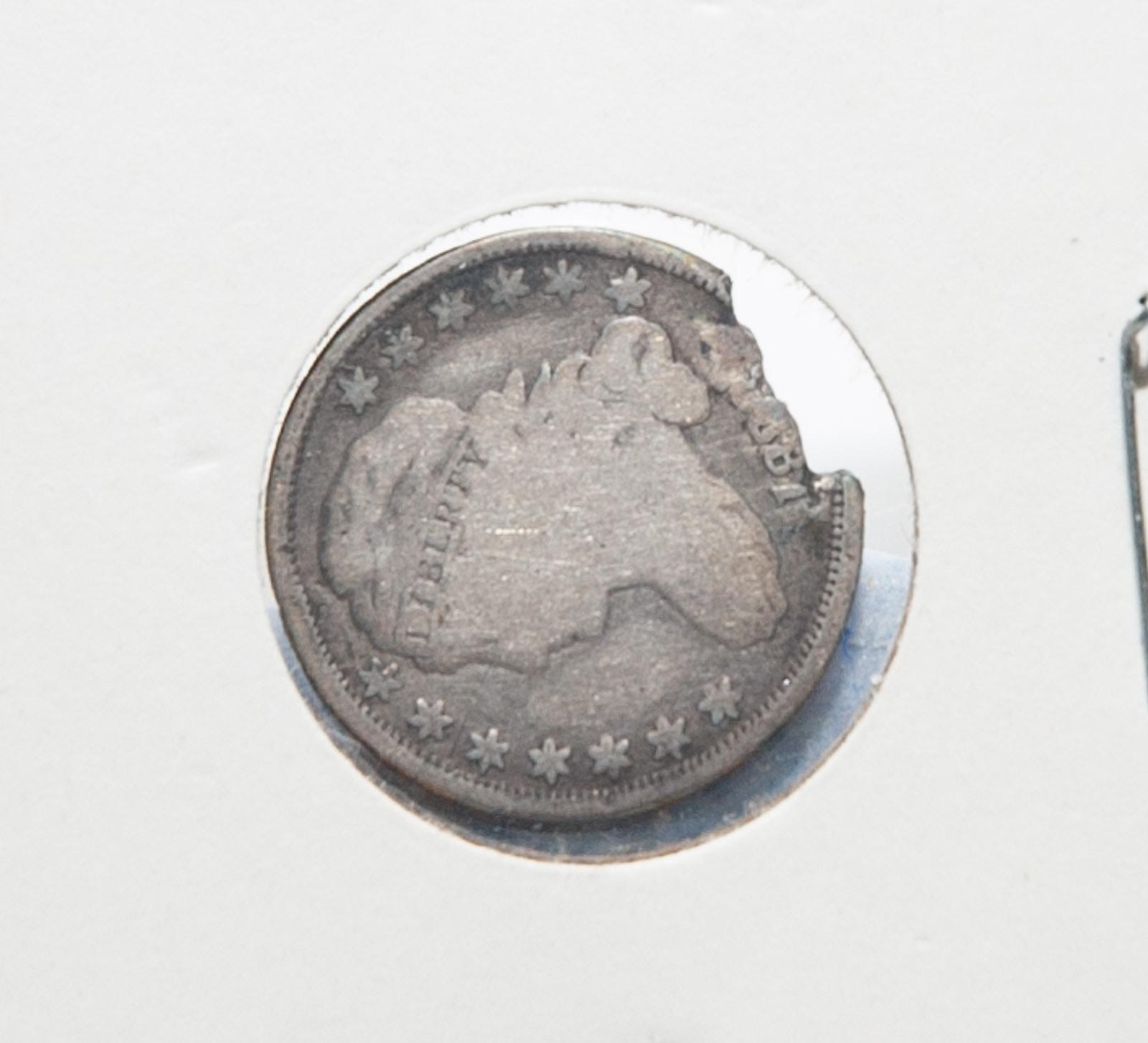Antique 1800's Capped Bust Dime