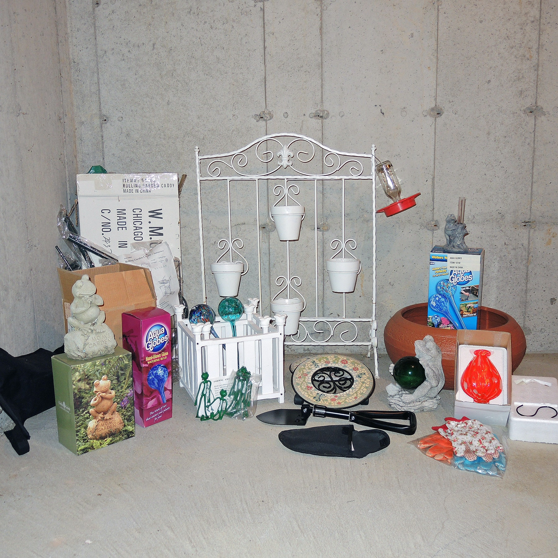 Lawn Ornaments, Garden Caddy, Hummingbird Feeders and Gardening Accessories