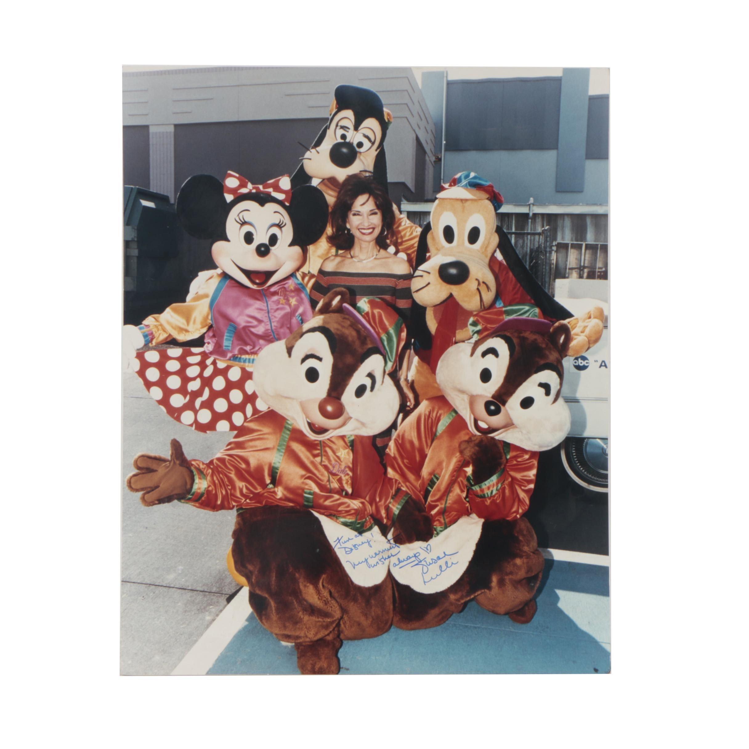 Susan Lucci Autographed Disneyland Photograph