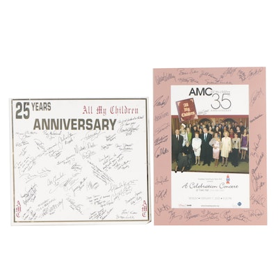 """All My Children"" 25th and 35th Anniversary Autographed Memorabilia"