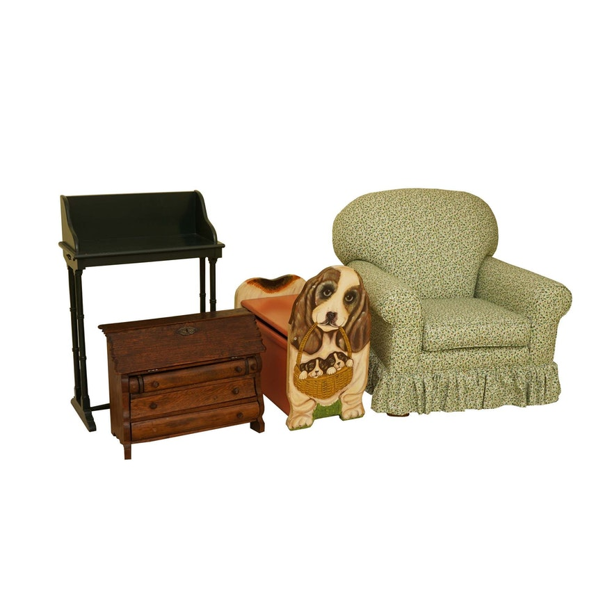 Child Size Armchair Desk Bench And Secretary