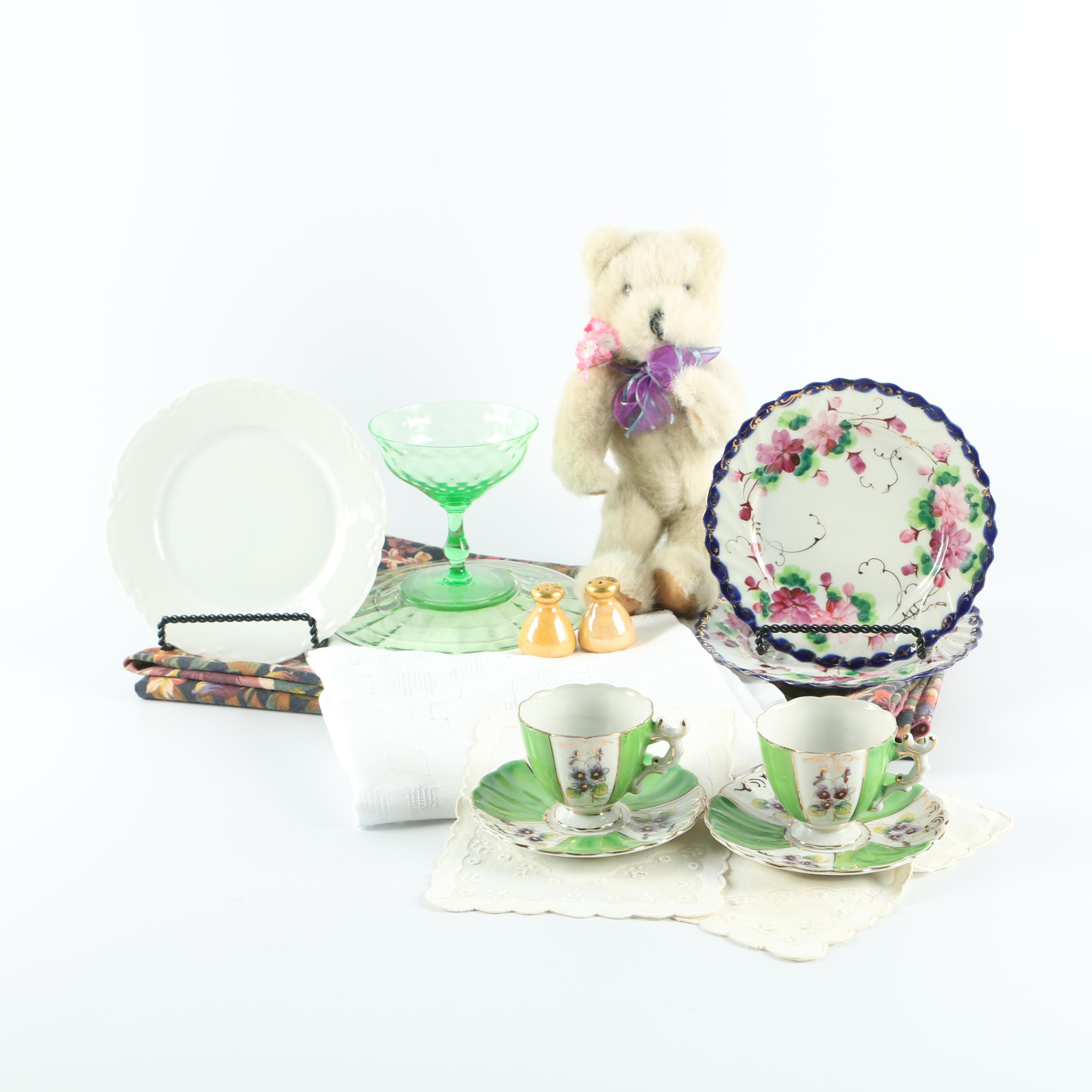 Teddy Bear, Tea Cups and More Featuring Hutschenreuther and Royal Sealy
