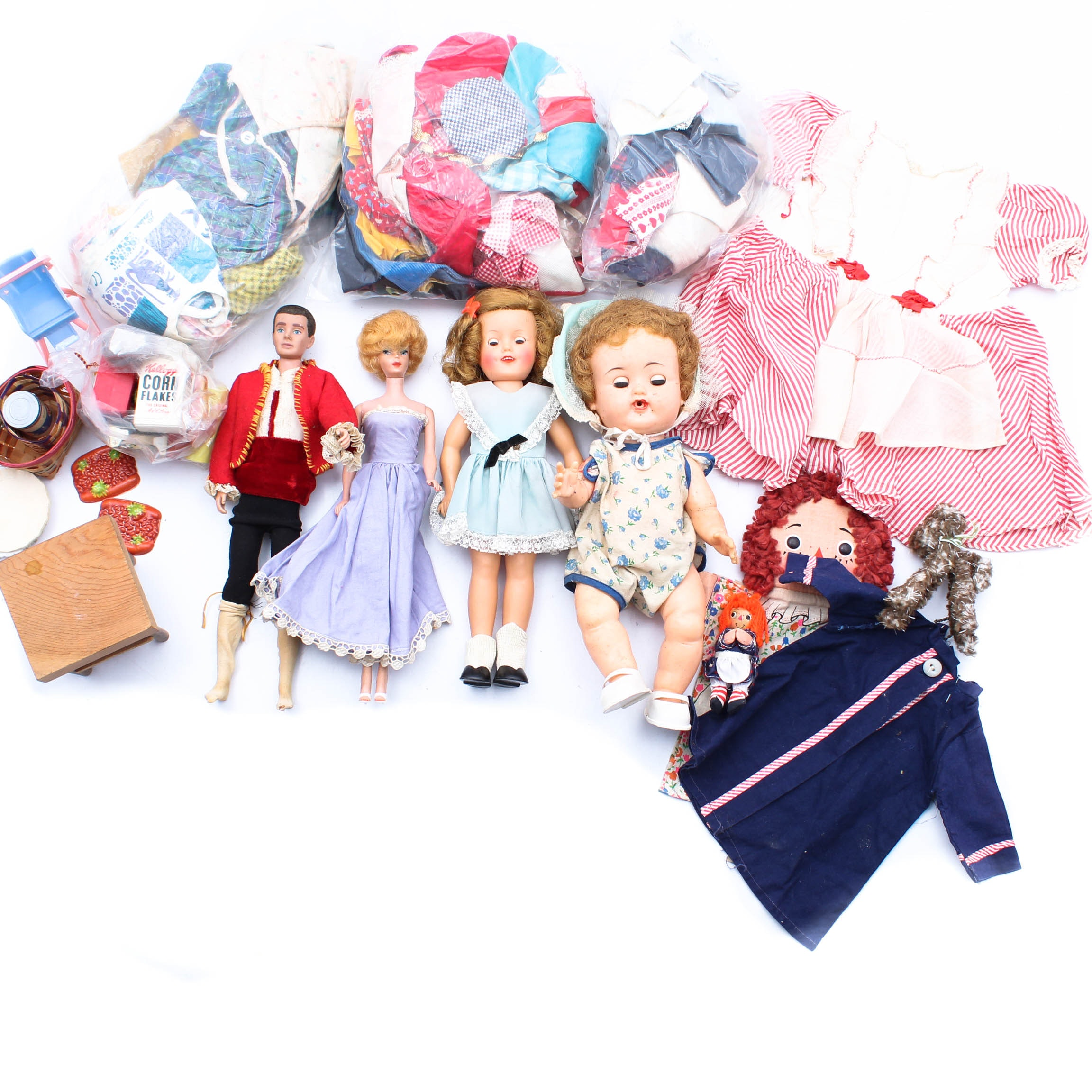 Vintage Doll Collection with Barbie, Ken and Shirley Temple