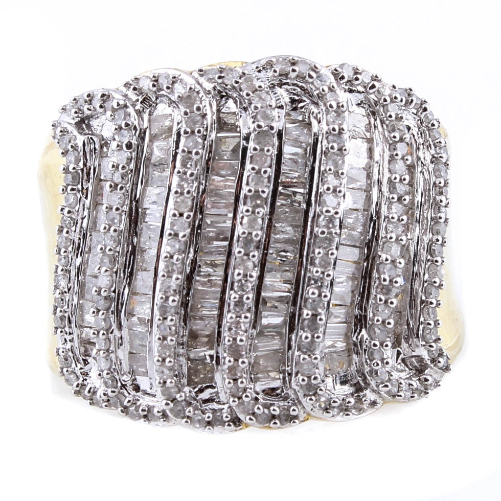 Sterling Silver and 1.05 CTW Diamond Ring