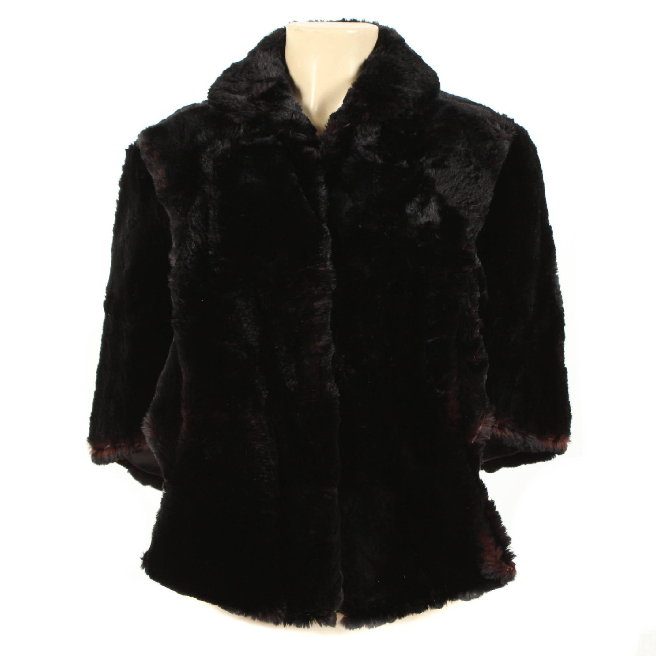 Vintage Sheared Beaver Fur Stole