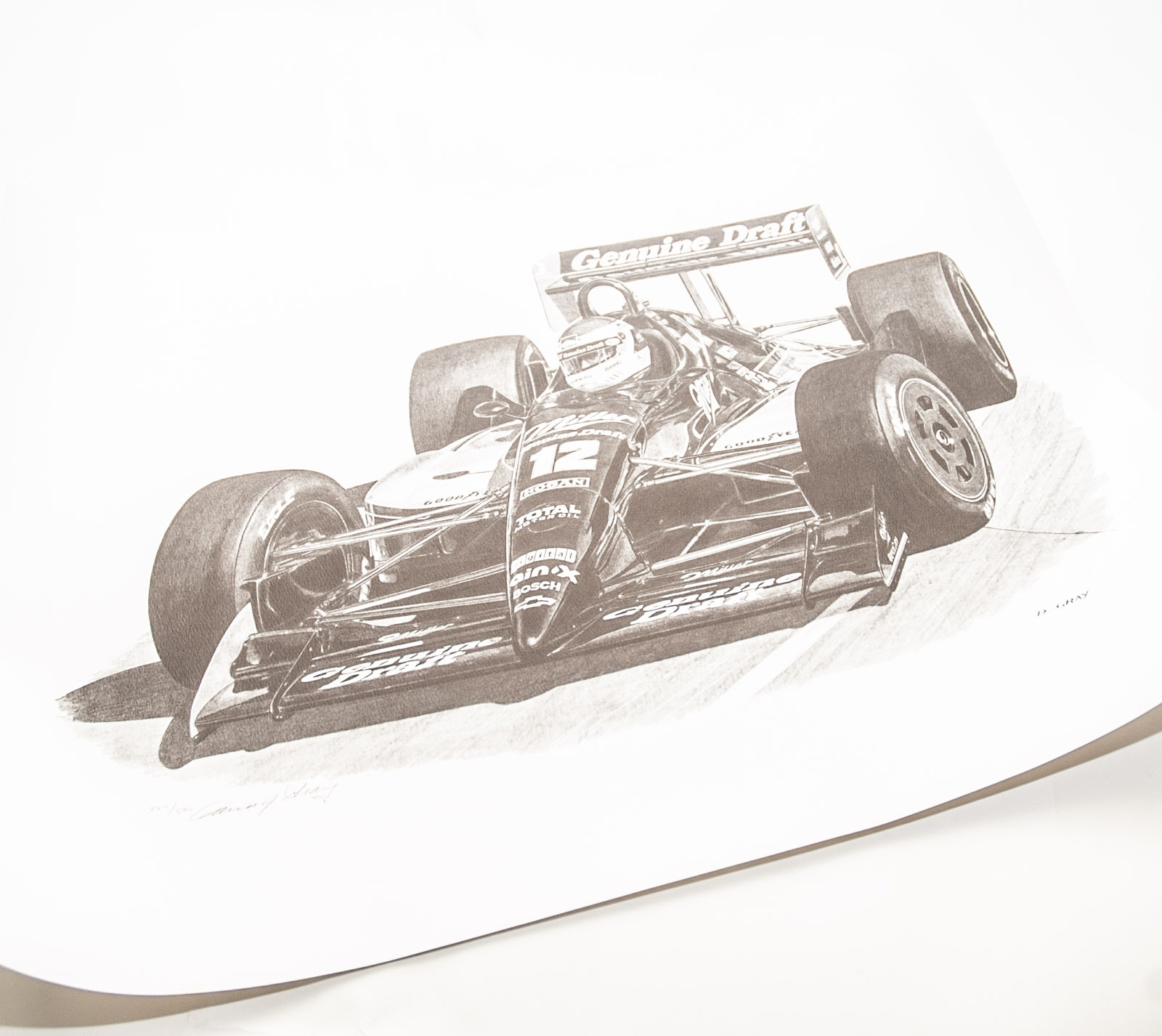 Signed David J. Gray Limited Edition Racing Print