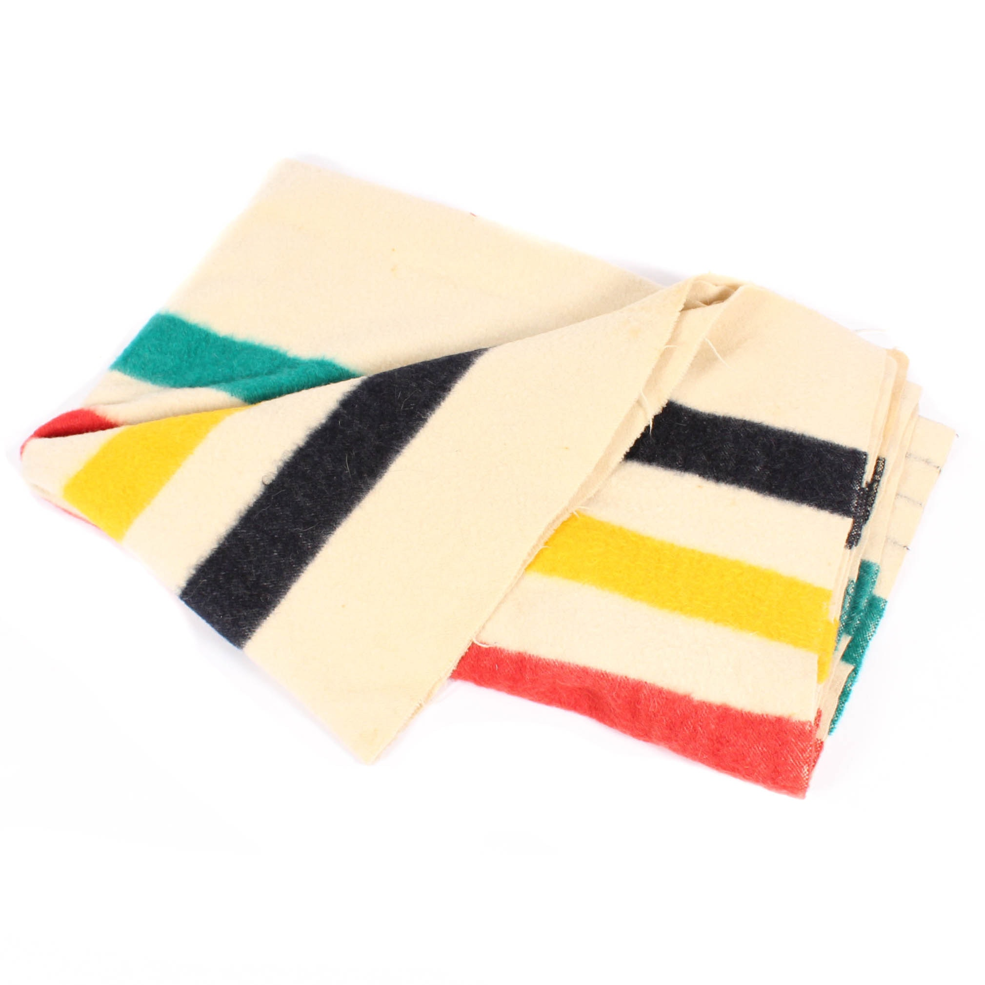 Vintage Hudson's Bay Point Wool Blanket