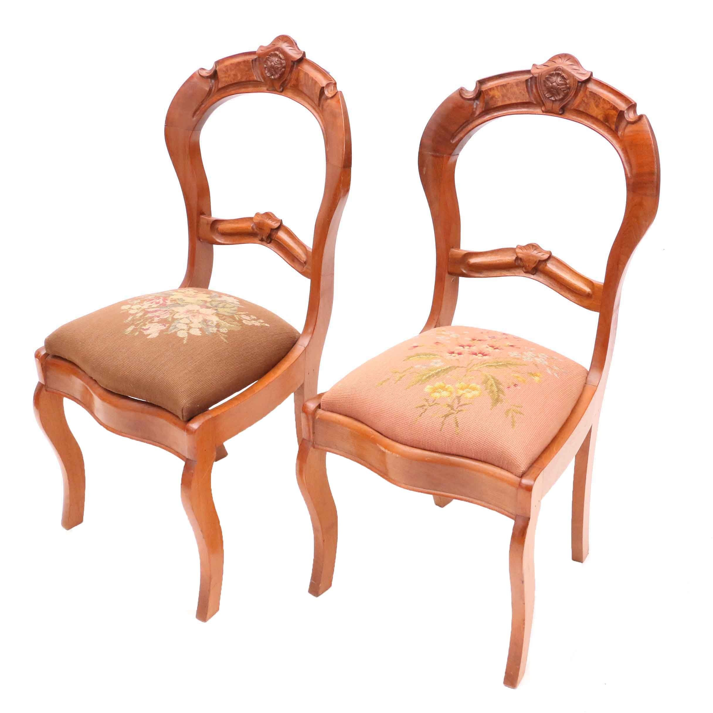 Victorian Style Mahogany Side Chairs