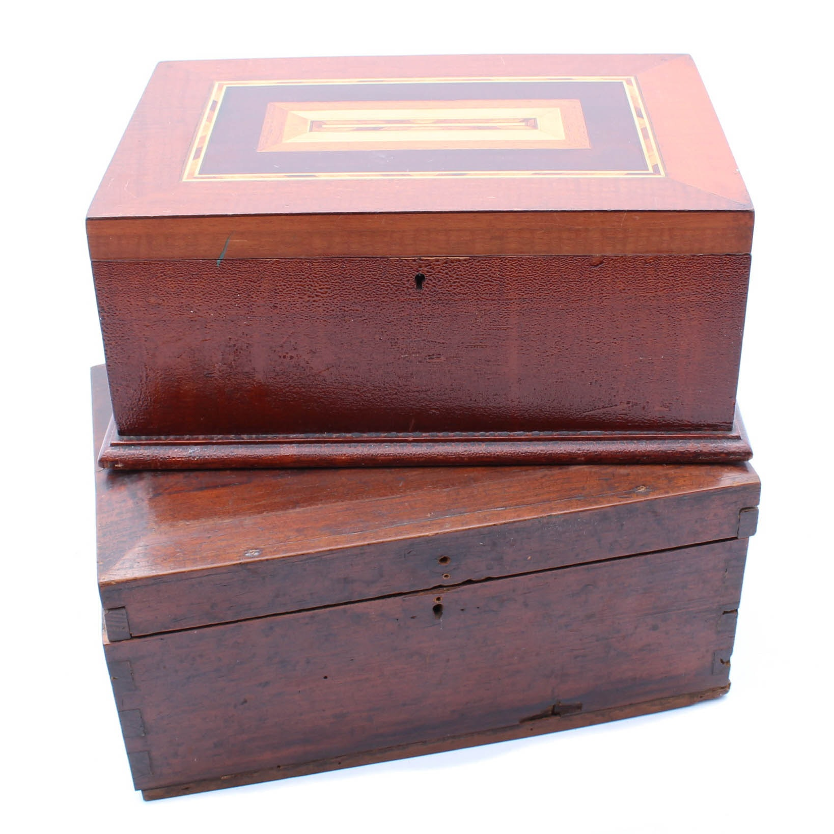 Antique and Vintage Wooden Boxes including Marquetry Inlay