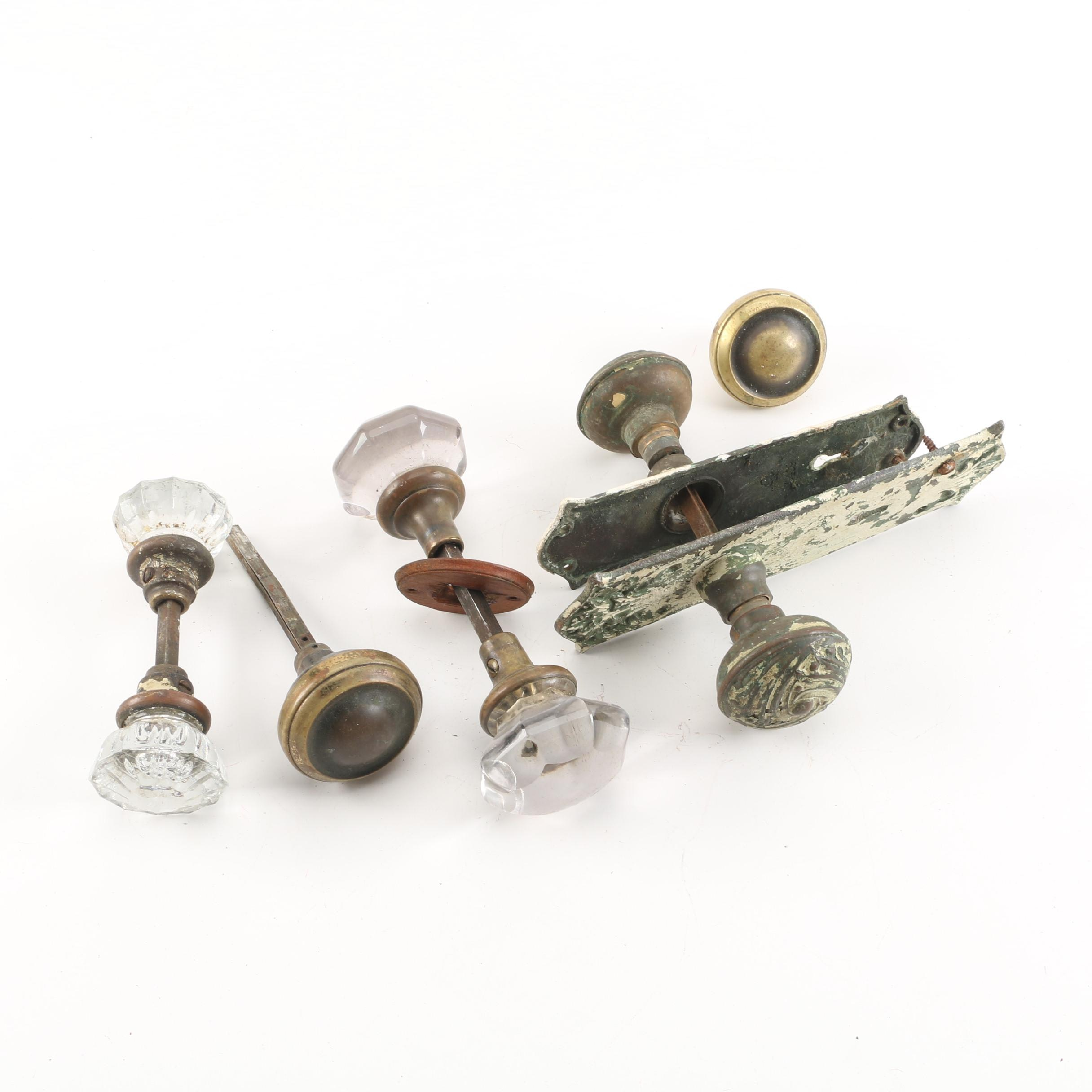 Vintage Metal And Glass Door Knobs ...