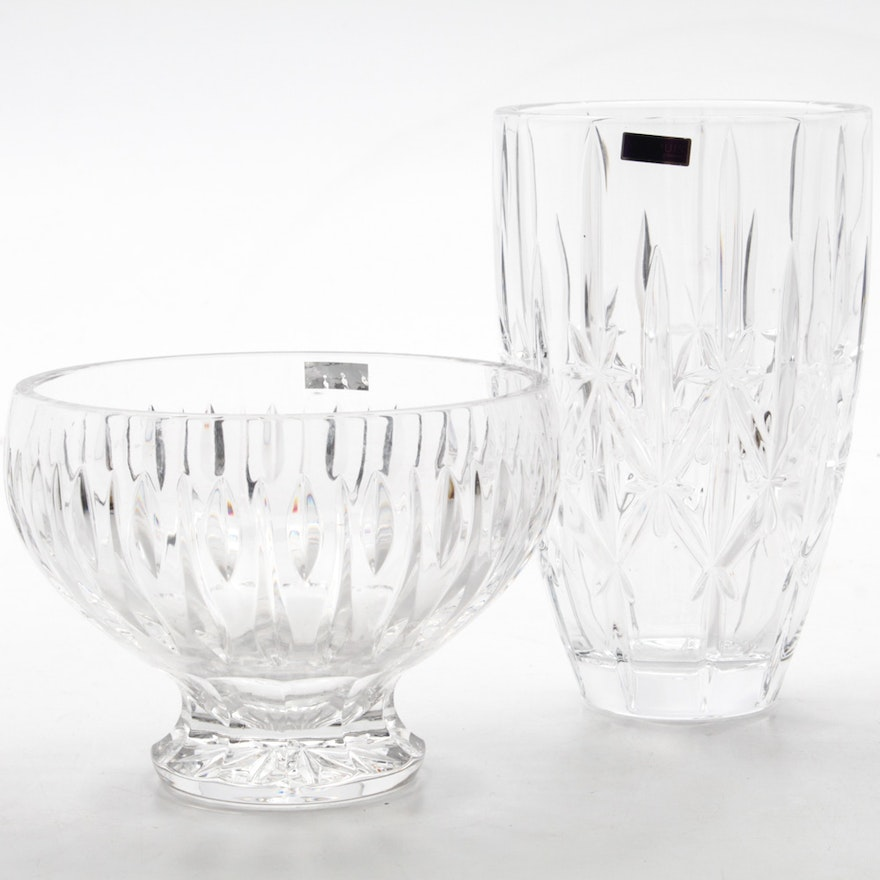 Marquis By Waterford Crystal Sparkle Vase And Sheridan Bowl Ebth