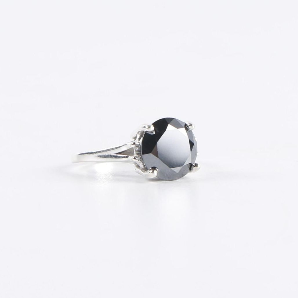 Sterling Silver 3.61 CT Black Diamond Ring
