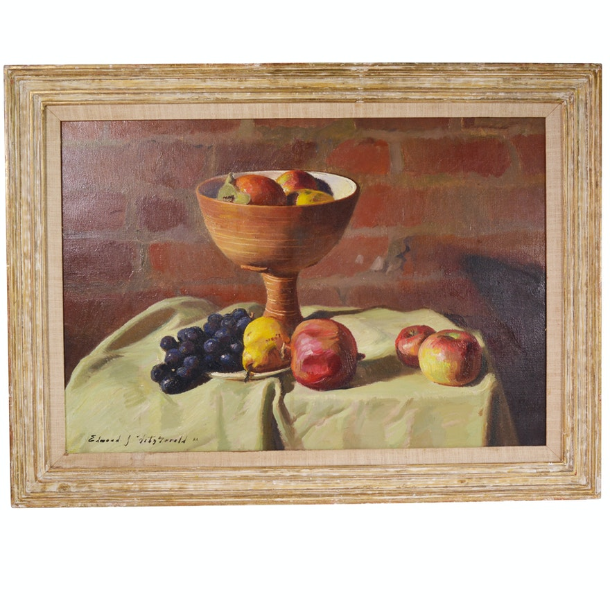 Edmond J. Fitzgerald Oil Painting of Still Life