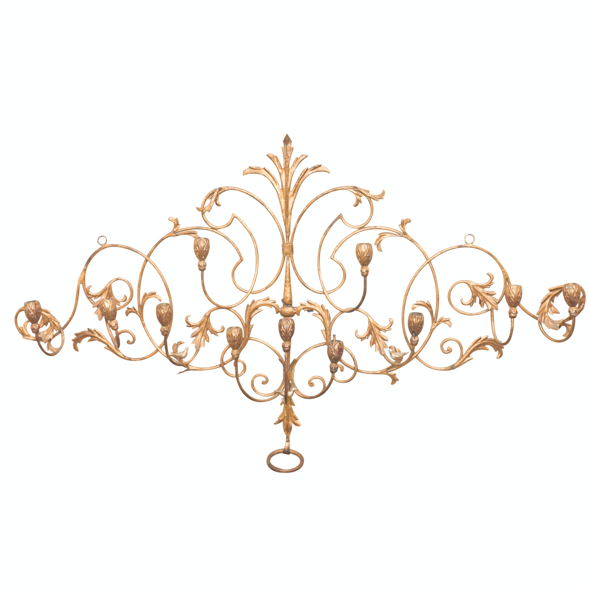 Brass Finished Tole Candle Sconce