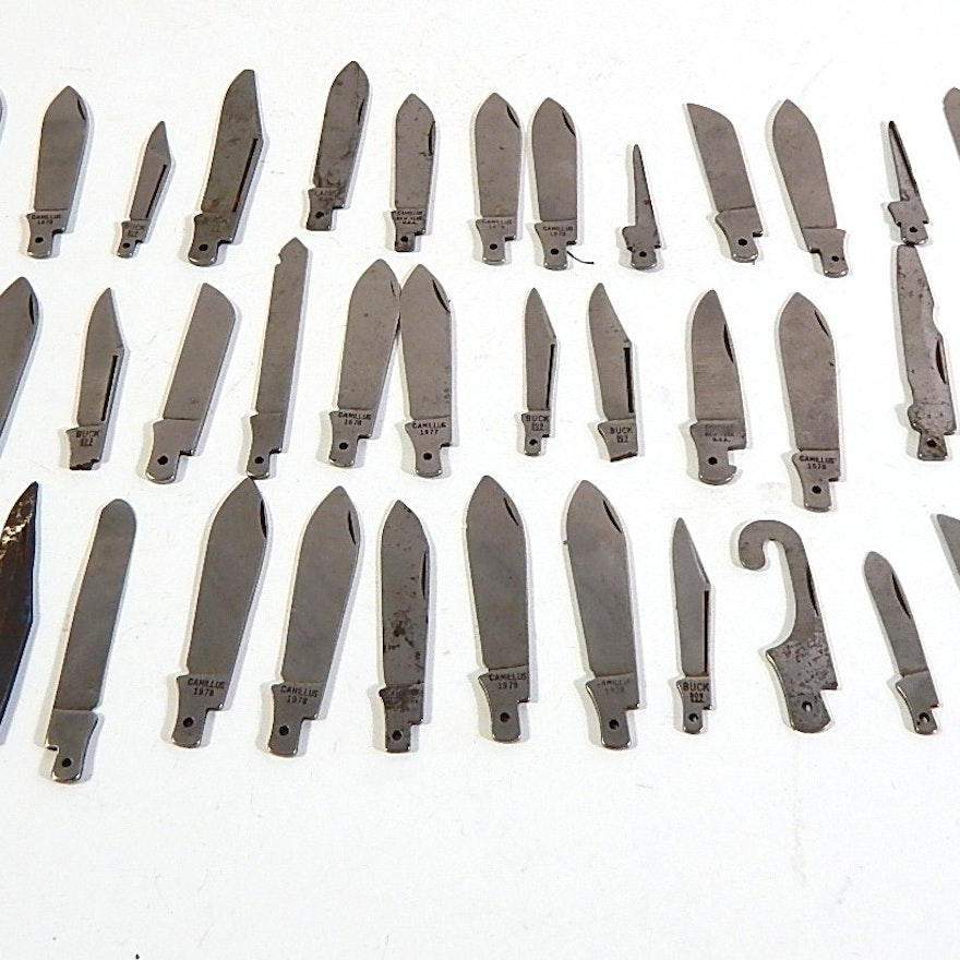 Folding Knife Blade Collection - Over 40 Blades