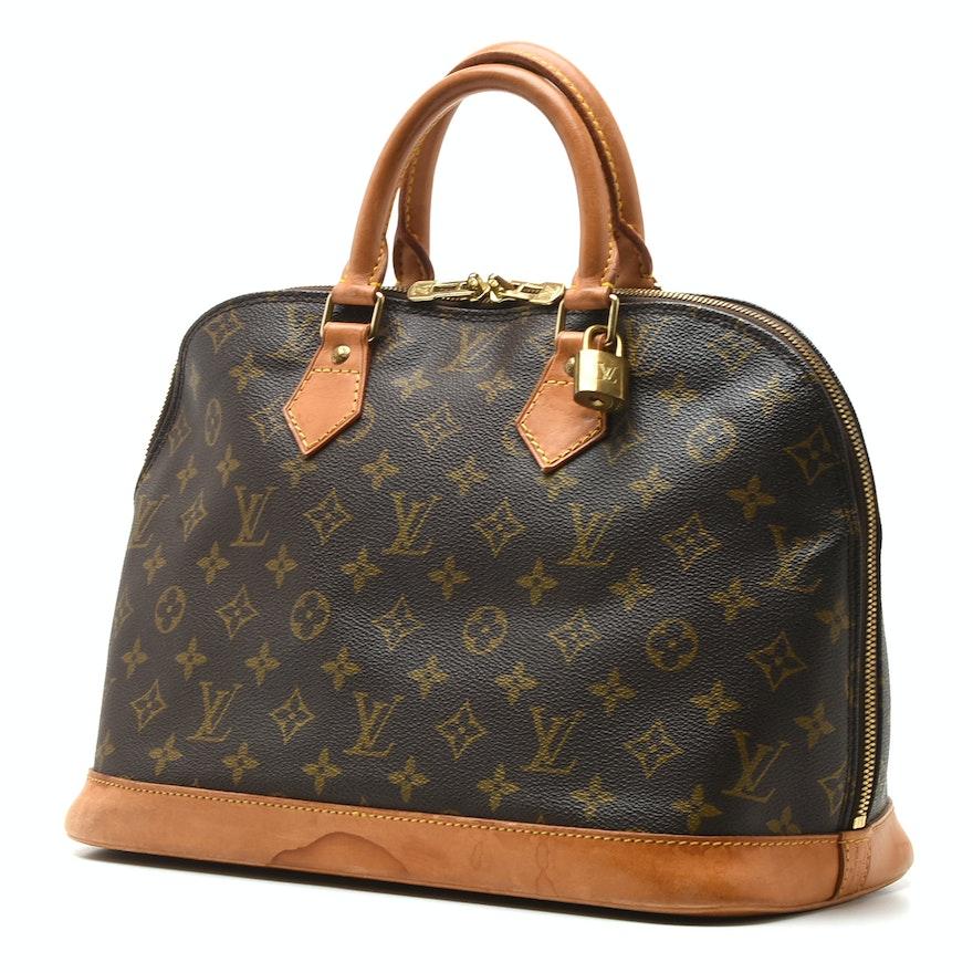 f9aa5e98daea Louis Vuitton of Paris Alma Monogram Canvas and Leather Top Handle Bag    EBTH