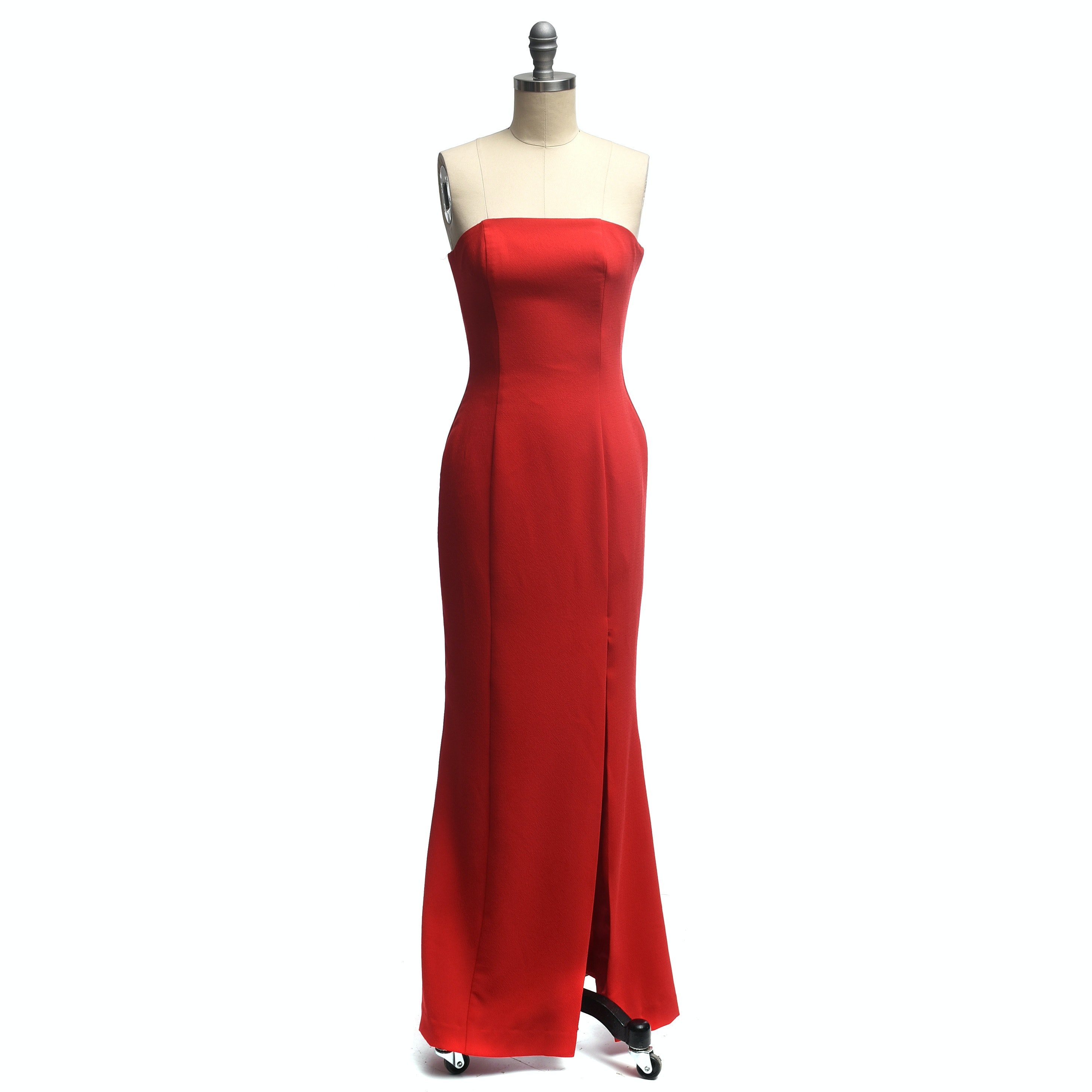 Single Of Los Angeles Red Strapless Evening Gown Ebth