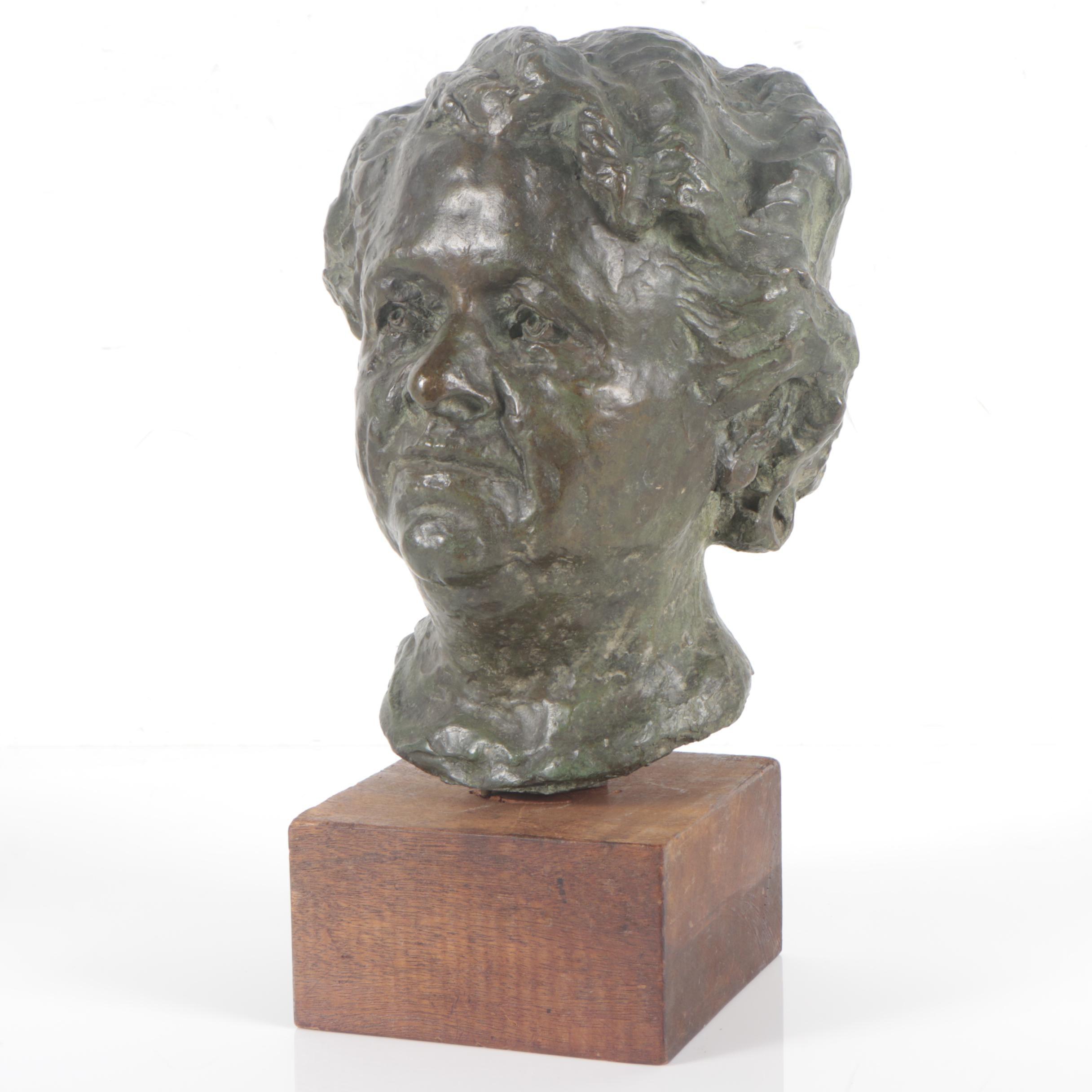 Bronze Bust of a Woman