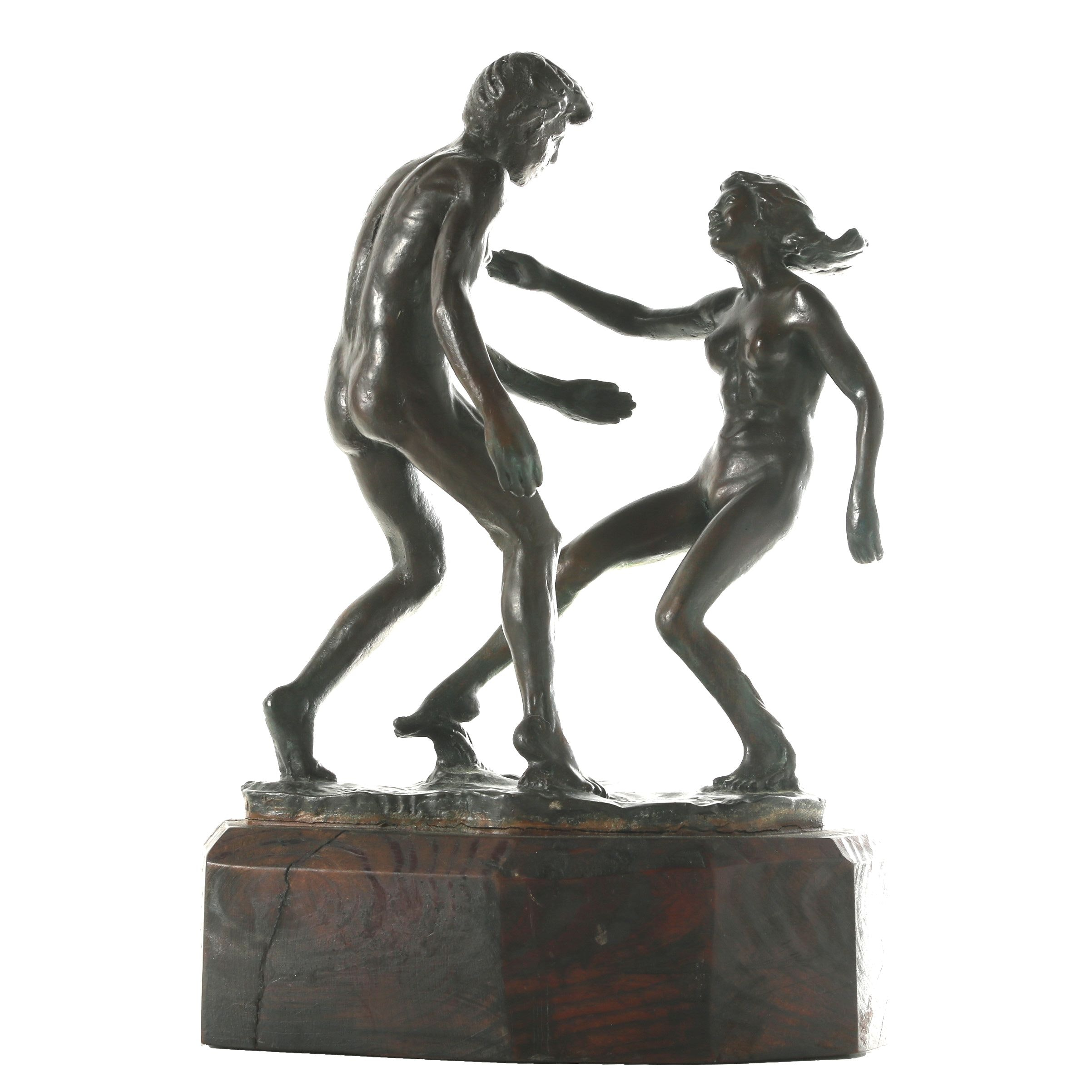 Randolph Johnston Limited Edition Figural Bronze Sculpture