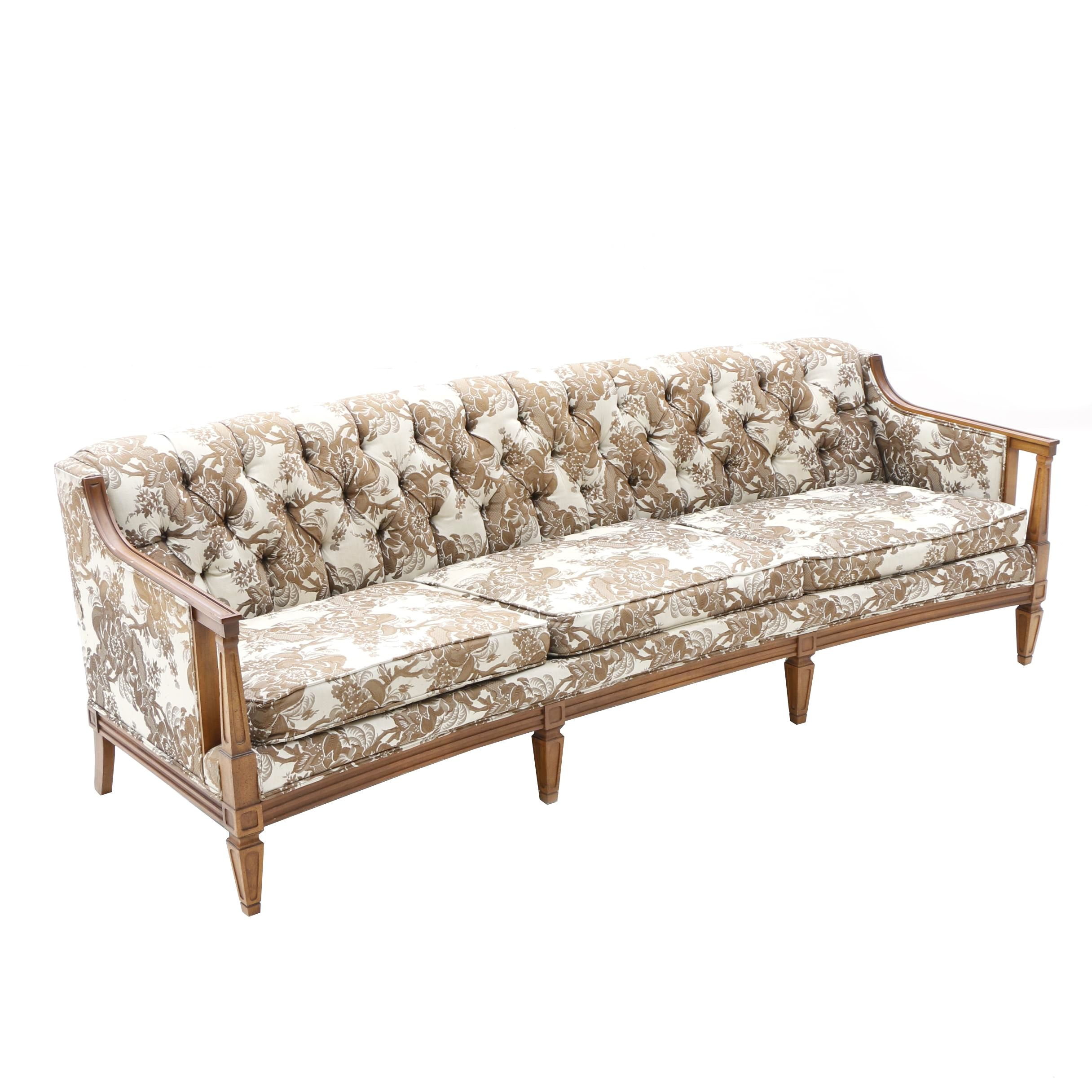 Vintage Broyhill Wood Framed Sofa ...