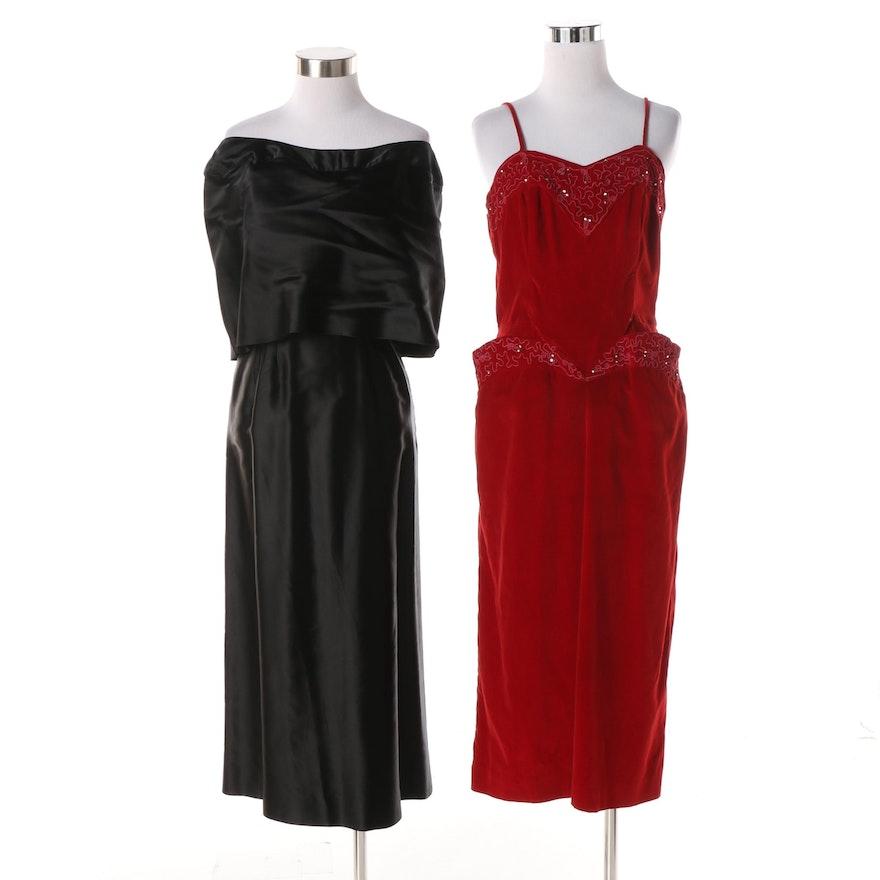 96e58751f868 1950s Vintage Evening Dresses : EBTH