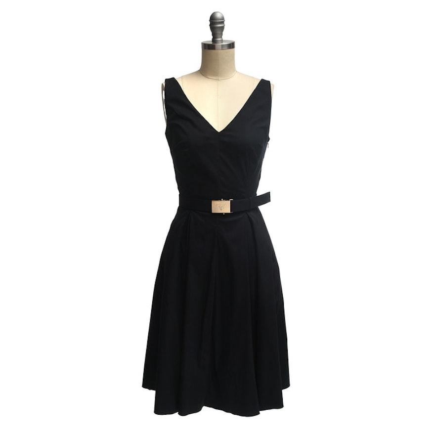d71cff4445 Prada Black Sleeveless Dress with Belt : EBTH