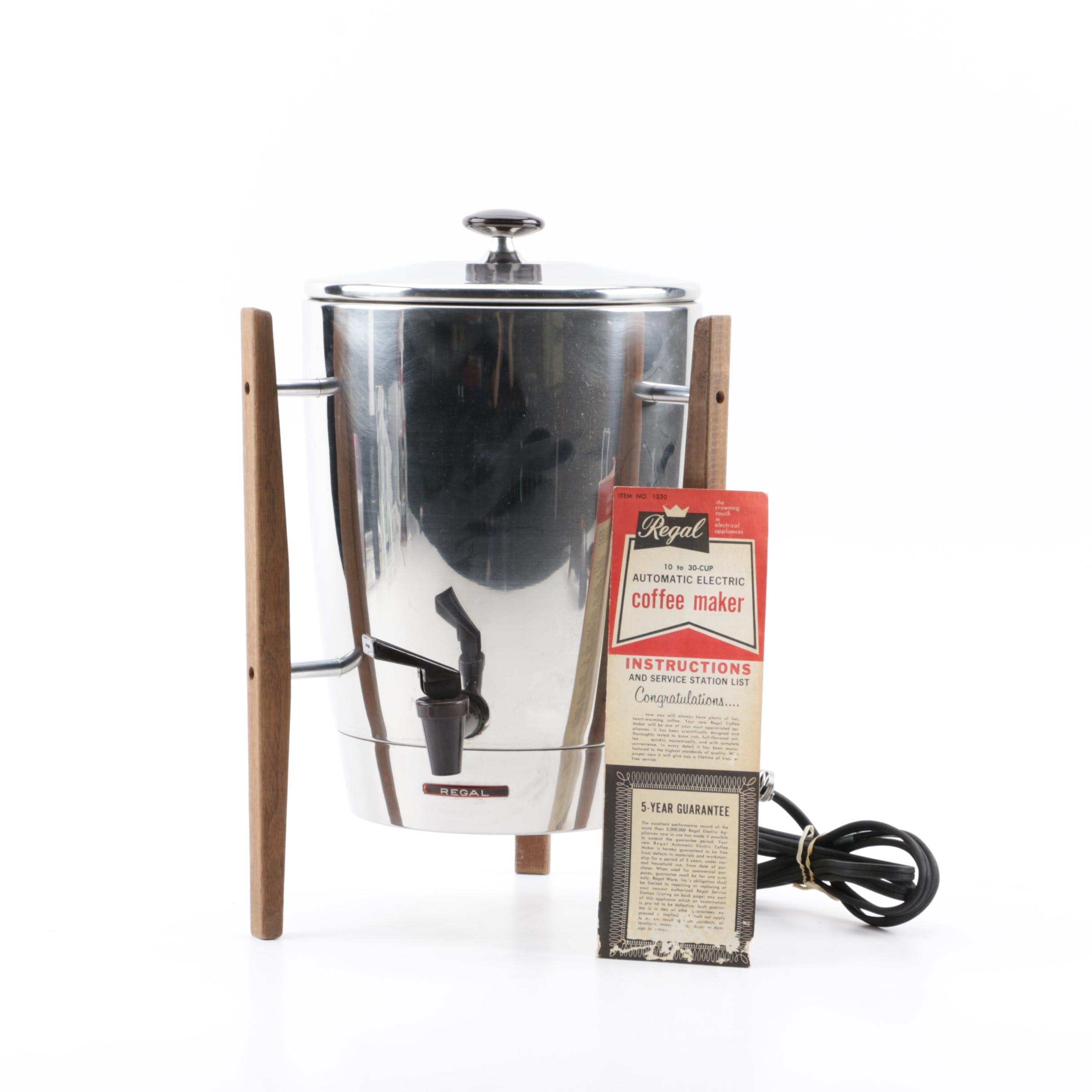 Mid-Century Regal Automatic Electric Coffee Maker