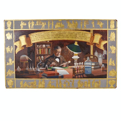 Edmond J. Fitzgerald Oil Painting of Louis Pasteur