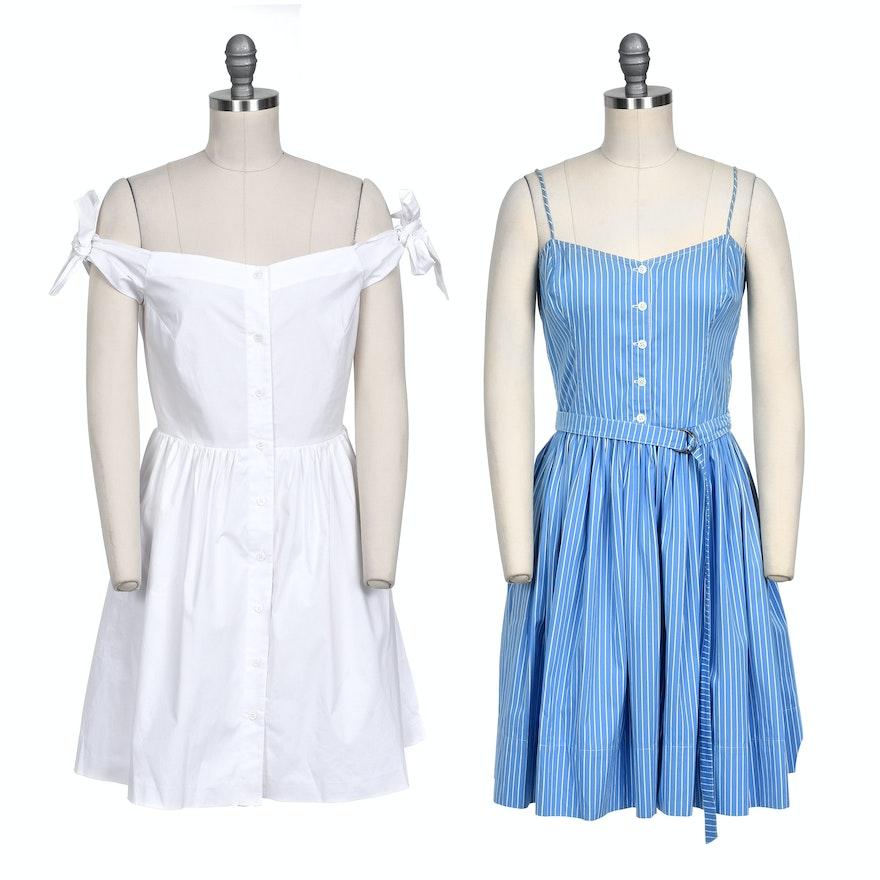 e2682ee02a Pairing of Cotton Button-Up Front Dress Including Ralph Lauren   EBTH