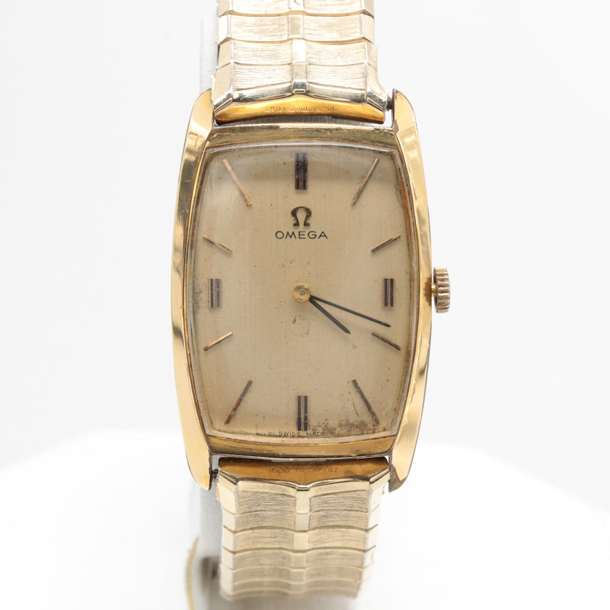 ccd76b2767a Omega Swiss Made Gold Electroplate and Stainless Steel Wristwatch   EBTH