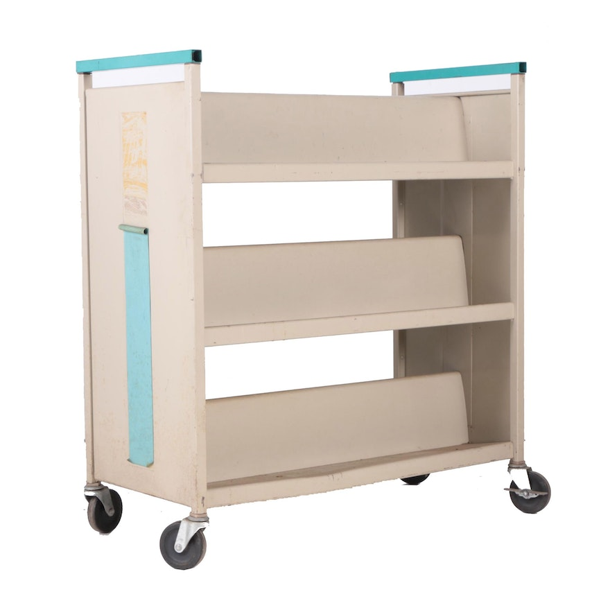 based on a vintage library cart