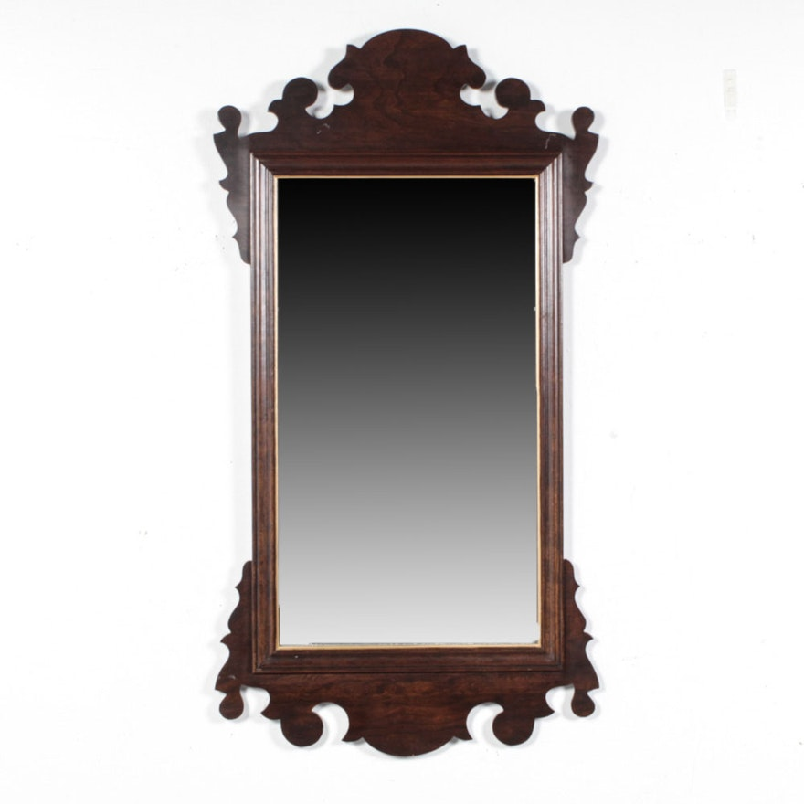 Ethan Allen Federal Style Cherry Wall Mirror Ebth