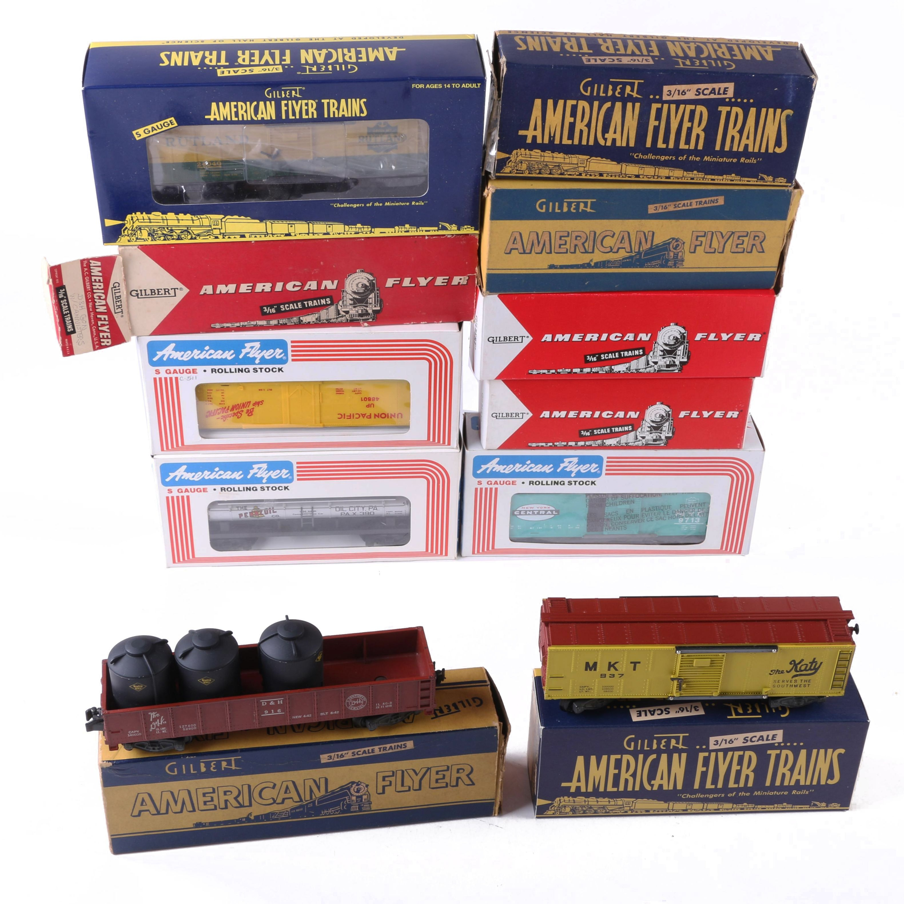 Vintage S Gauge Freight Cars by American Flyer