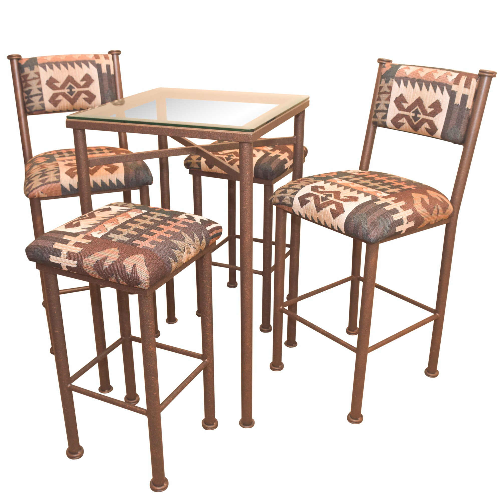 Southwestern Style Pub Table And Stools Set By Iron Ranch