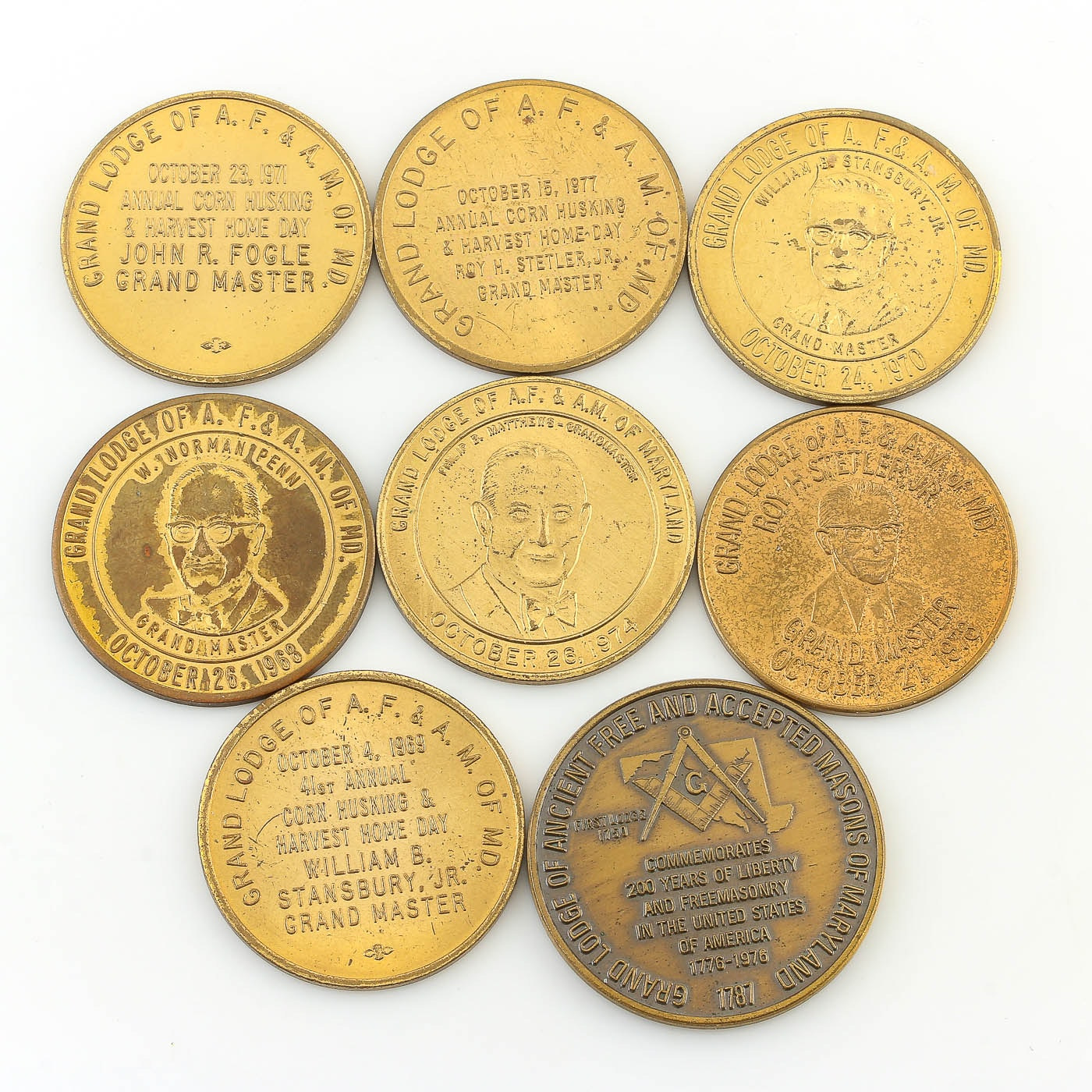 Assorted Commemorative Tokens