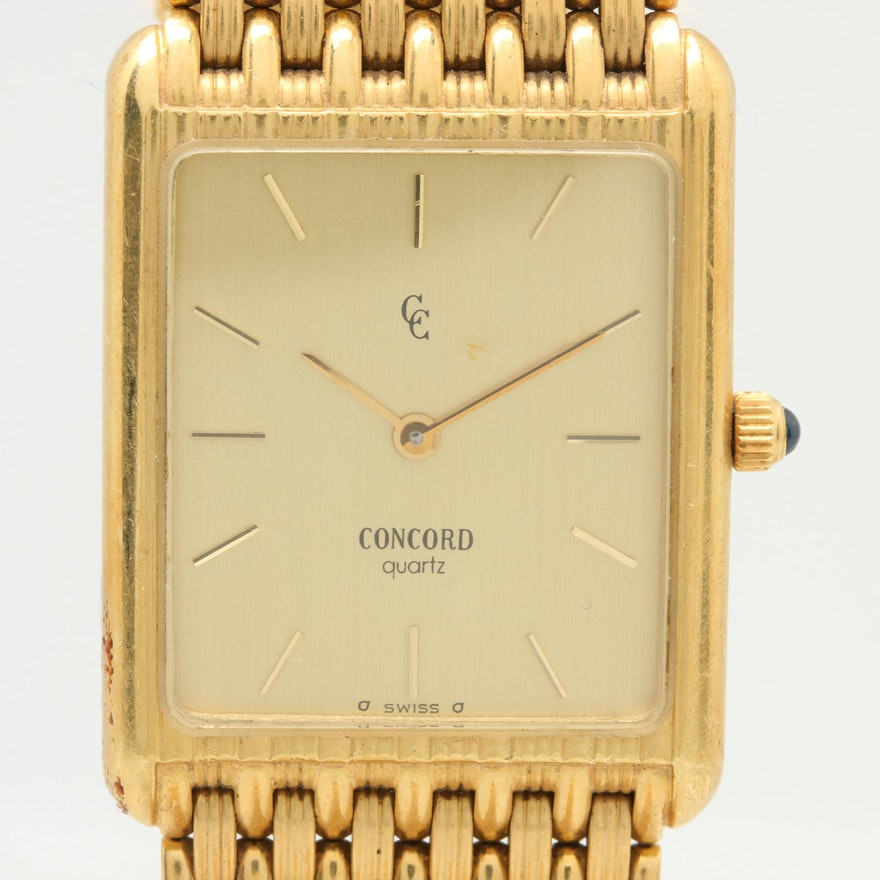 81808caac722 Concord 14K and 18K Yellow Gold Wristwatch   EBTH